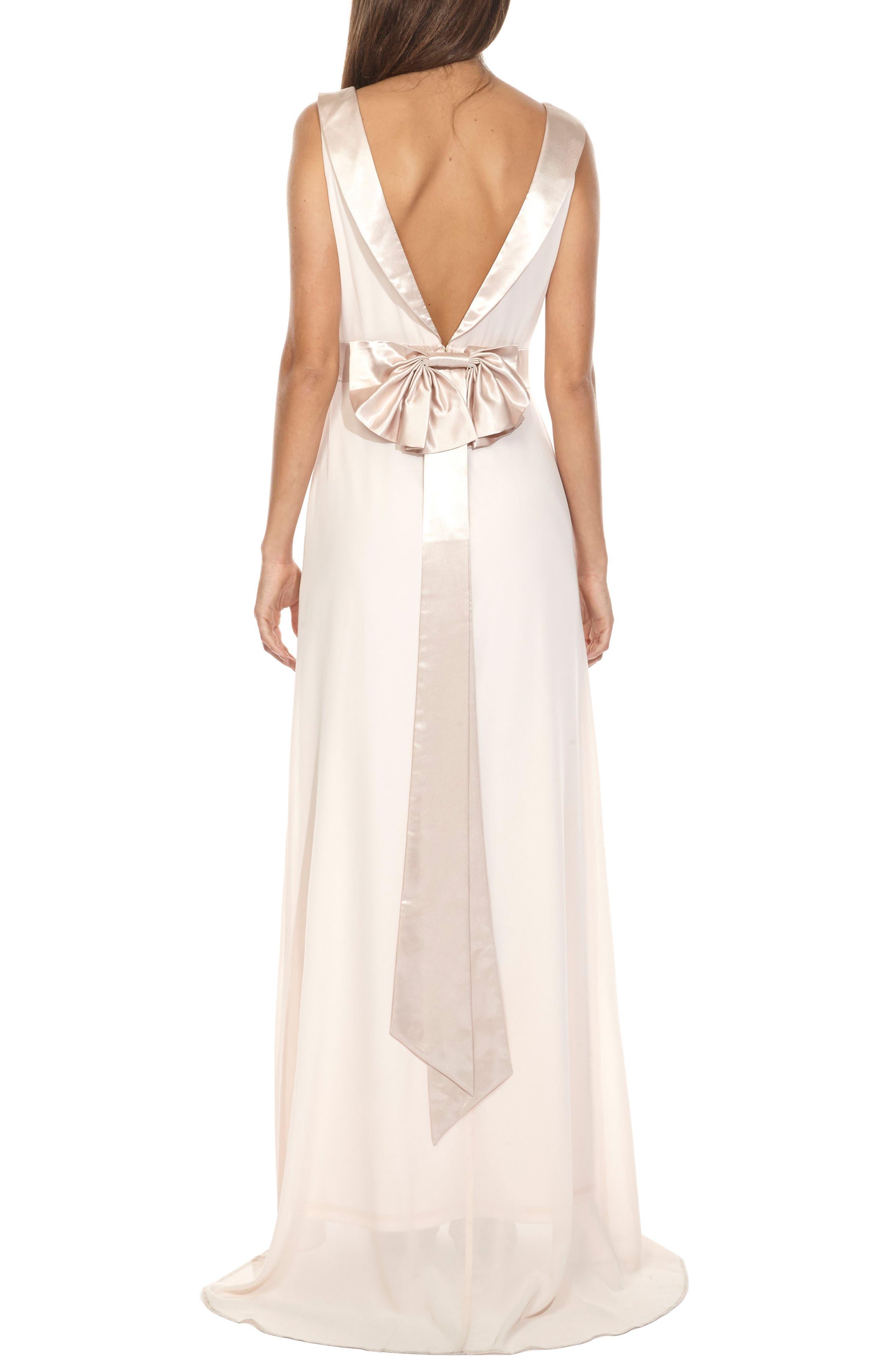 Alternate Image 2  - TFNC Daralls V-Back Maxi Dress