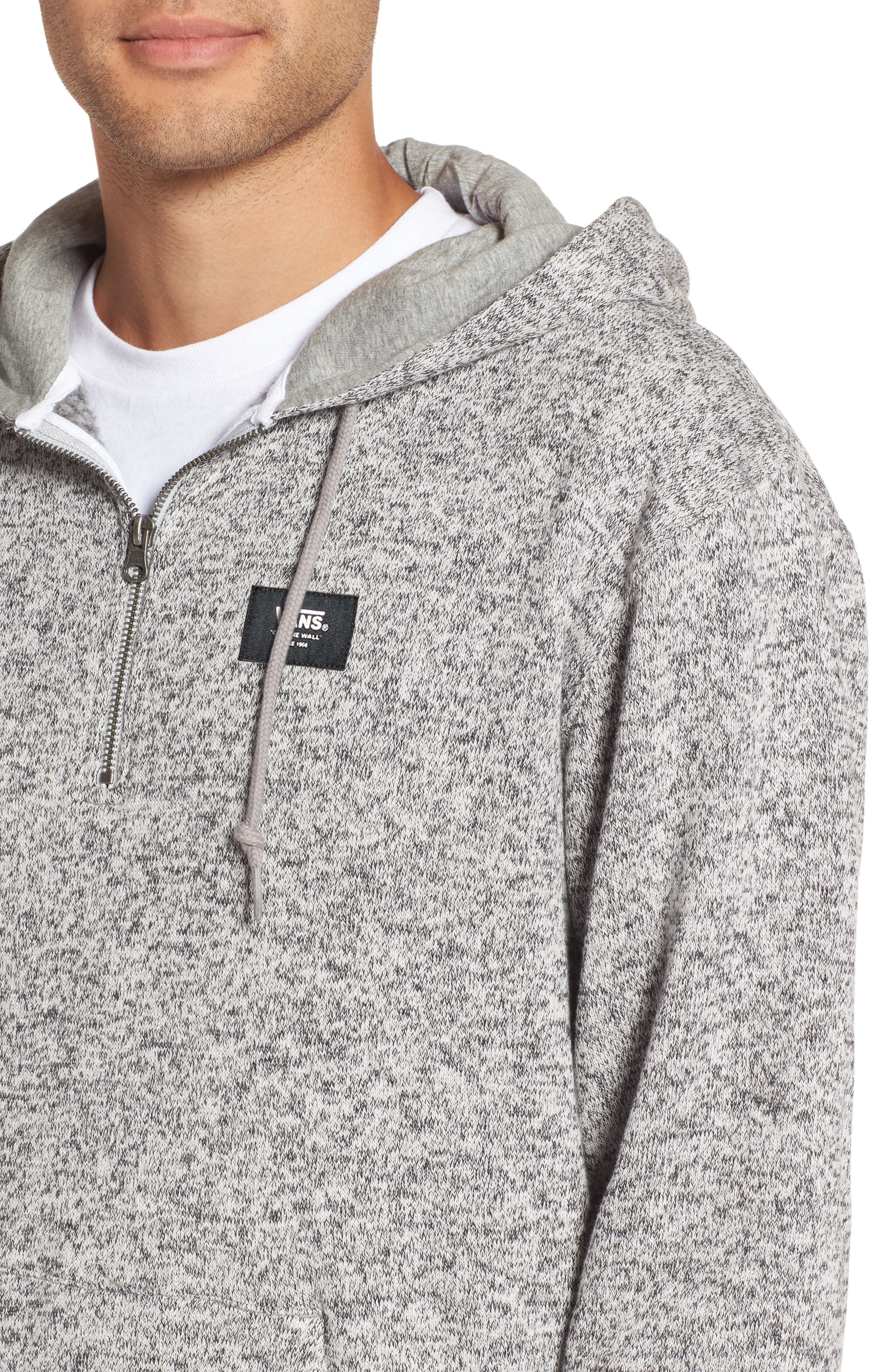 Flurry Half Zip Hoodie,                             Alternate thumbnail 4, color,                             Lunar Rock Heather
