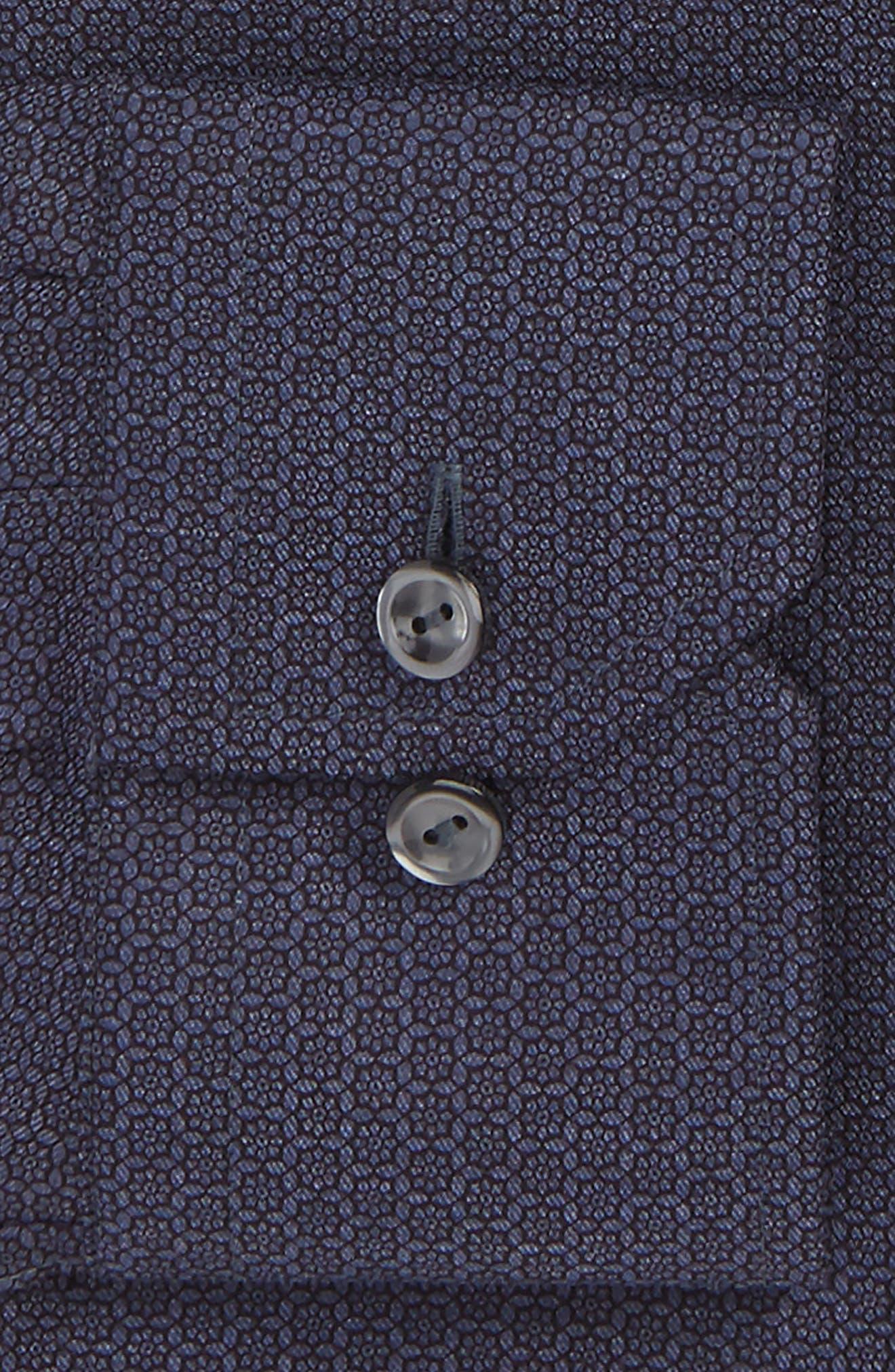 Slim Fit Medallion Print Dress Shirt,                             Alternate thumbnail 2, color,                             Navy