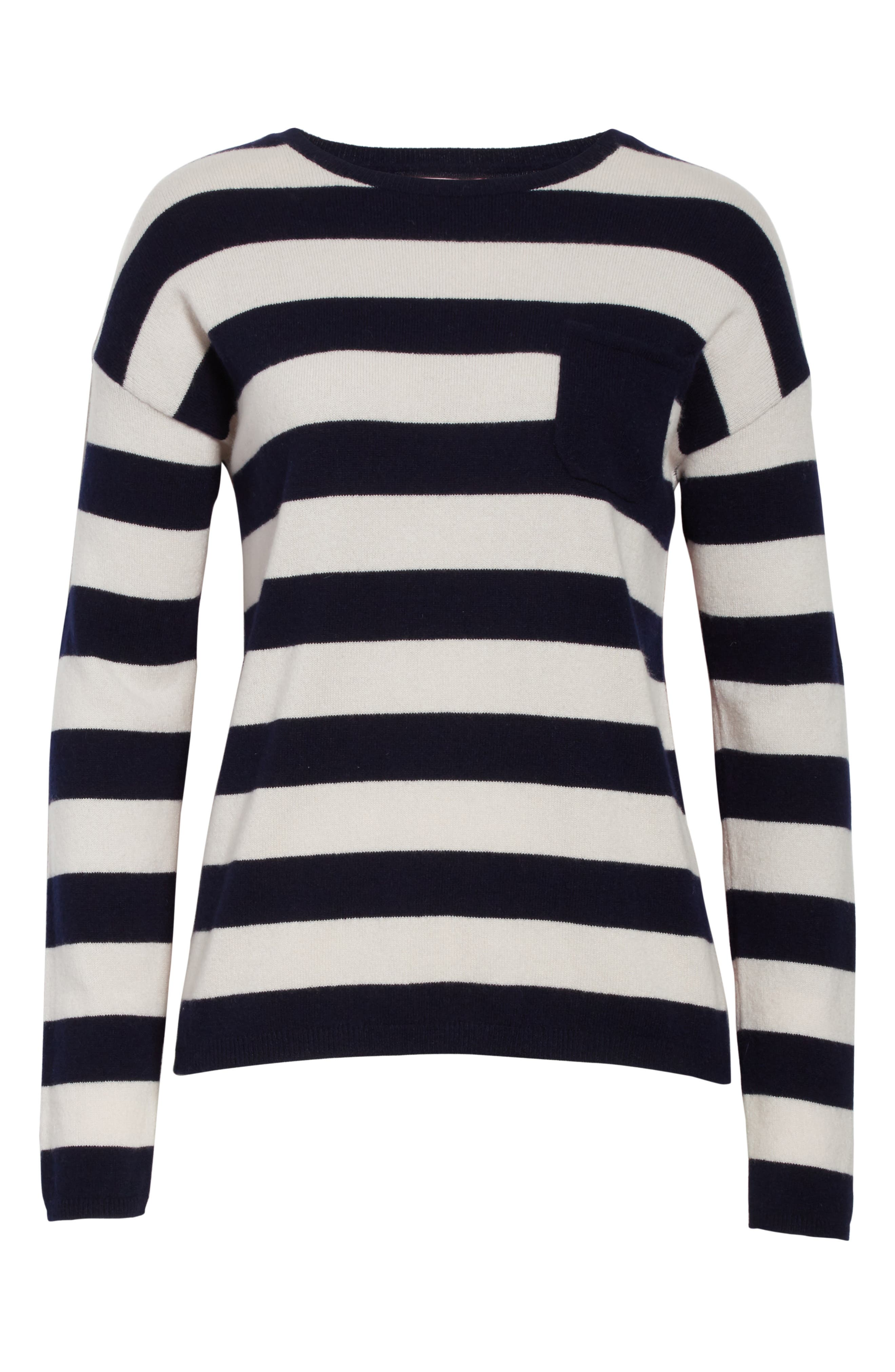Alternate Image 6  - CHINTI & PARKER Navy Pop Stripe Cashmere Sweater