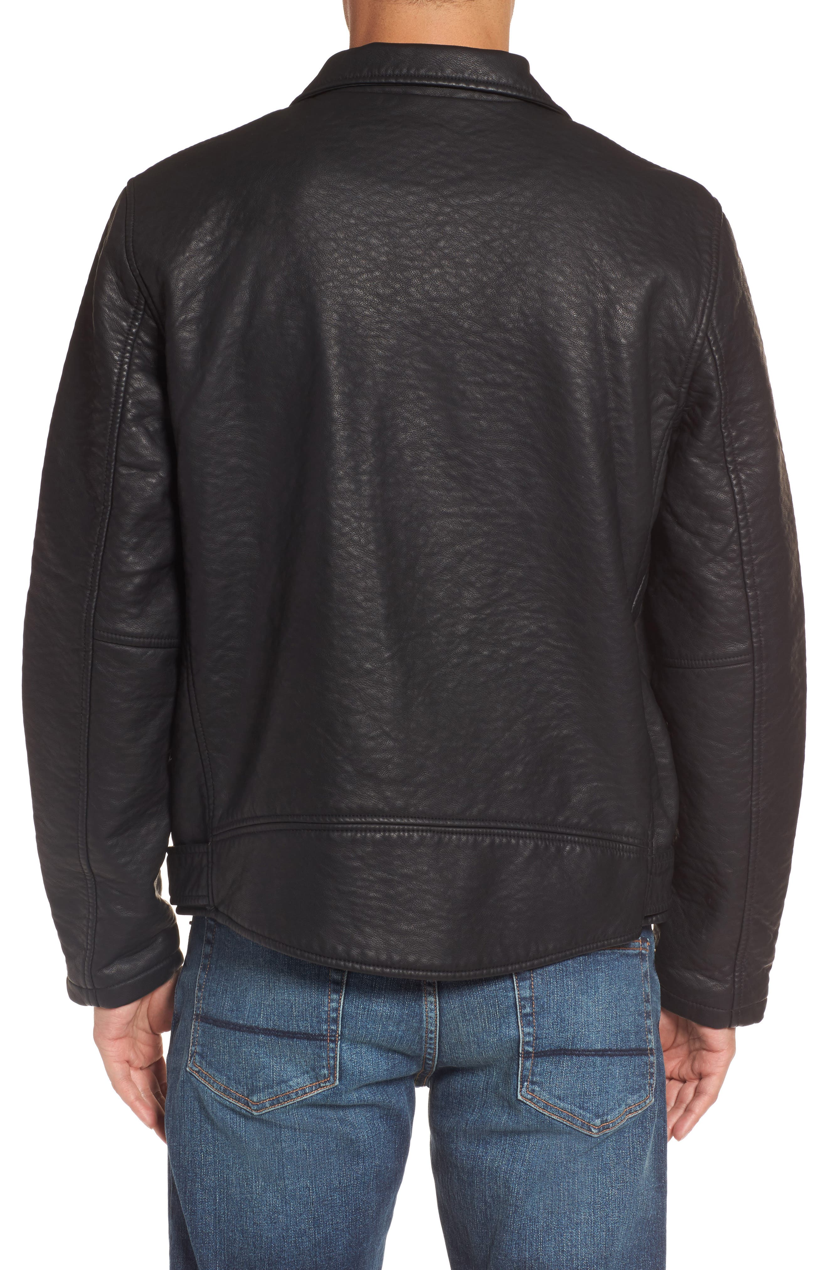 Alternate Image 2  - Members Only Faux Leather Moto Jacket