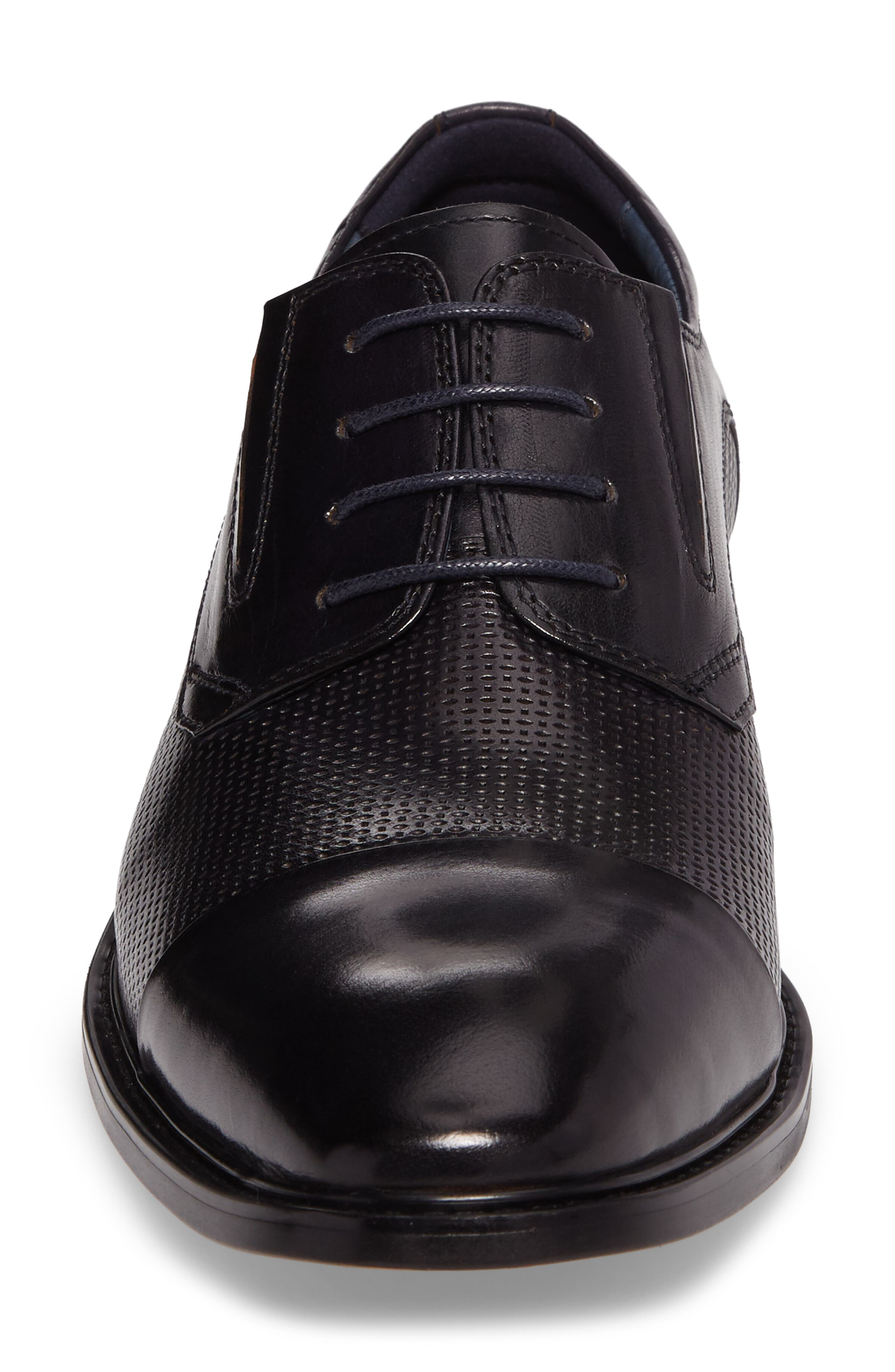 Dayes Cap Toe Derby,                             Alternate thumbnail 4, color,                             Navy Leather