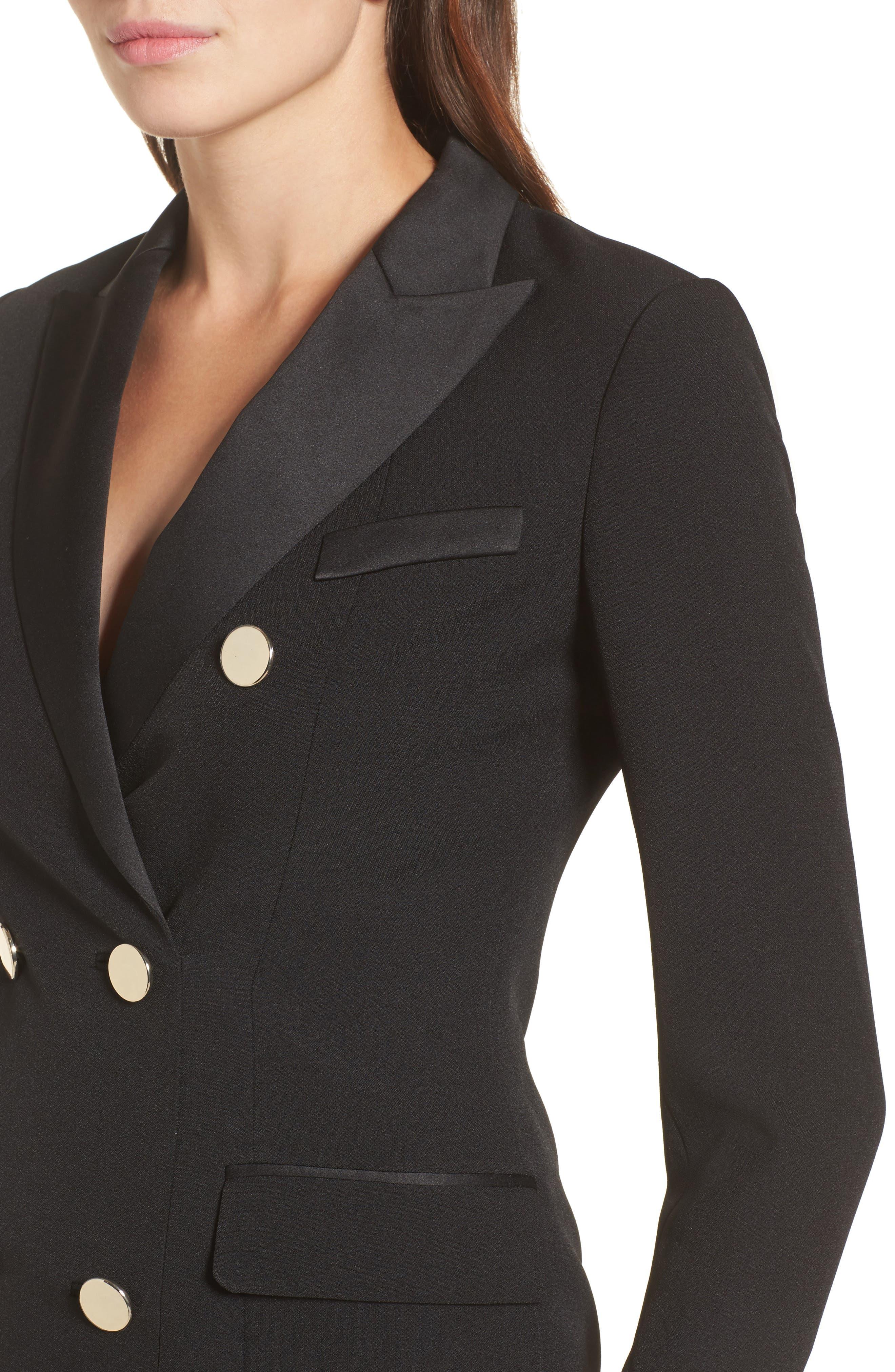 Alternate Image 4  - Anne Klein Tuxedo Dress