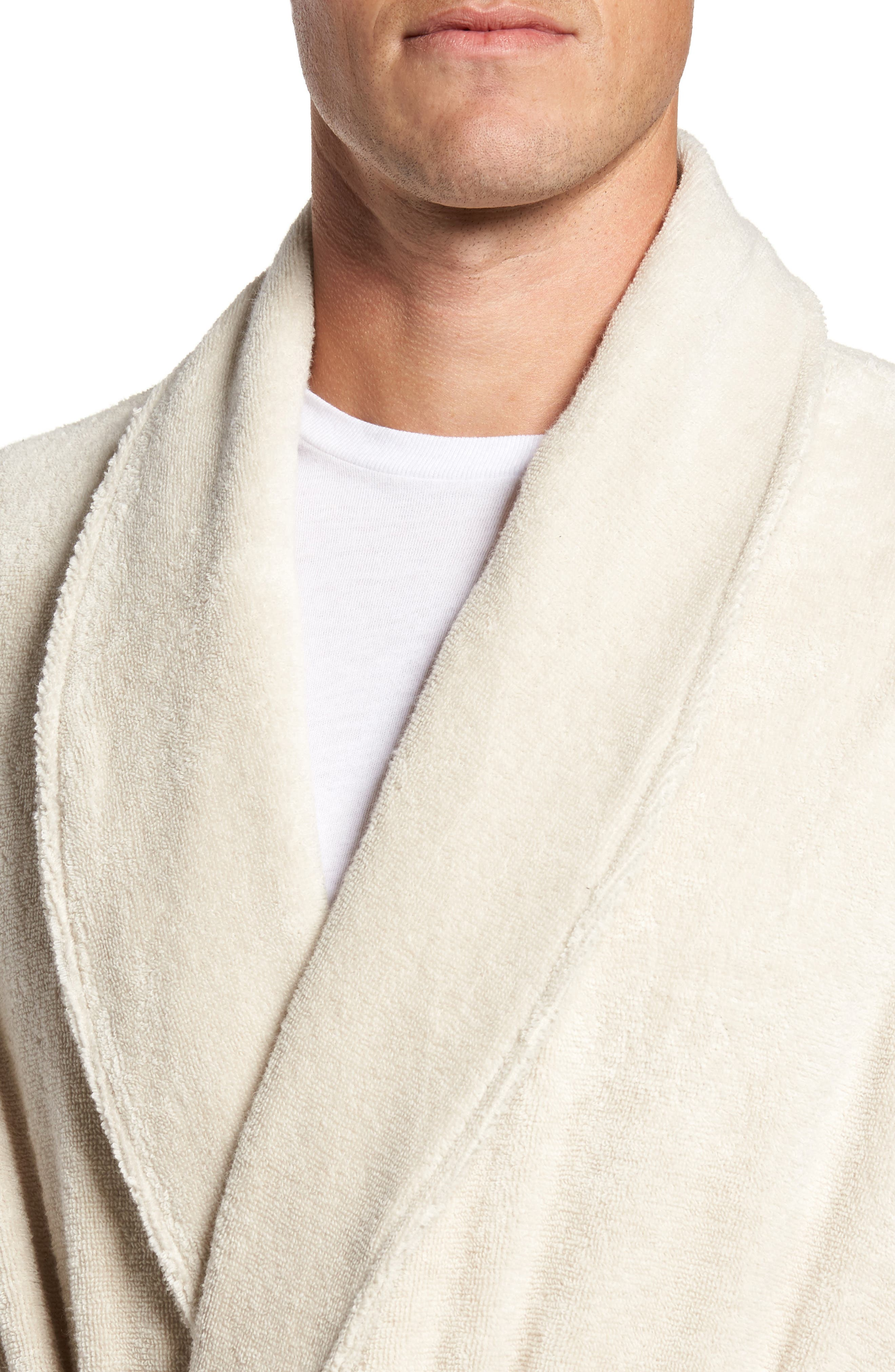 Hydro Cotton Terry Robe,                             Alternate thumbnail 4, color,                             Beige Oatmeal