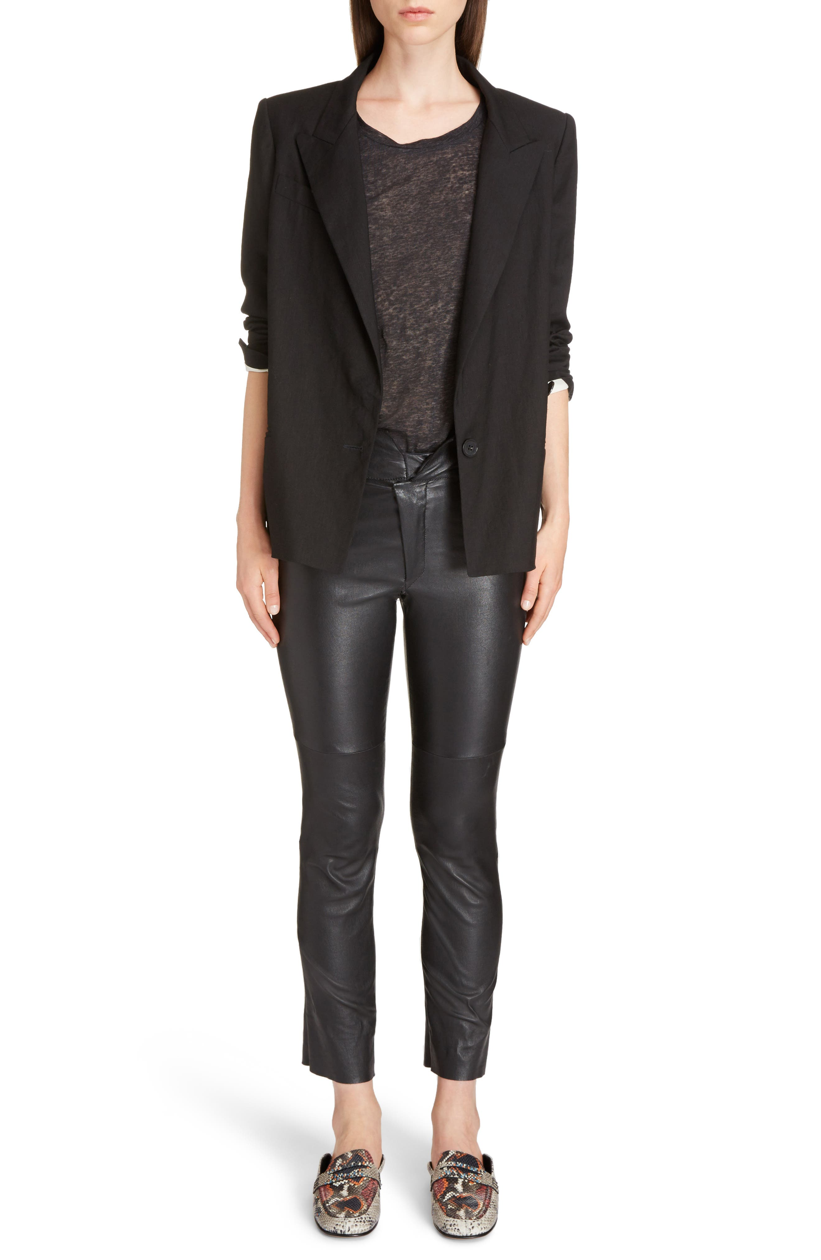 Alternate Image 6  - Isabel Marant Riane Stretch Linen Blend Blazer