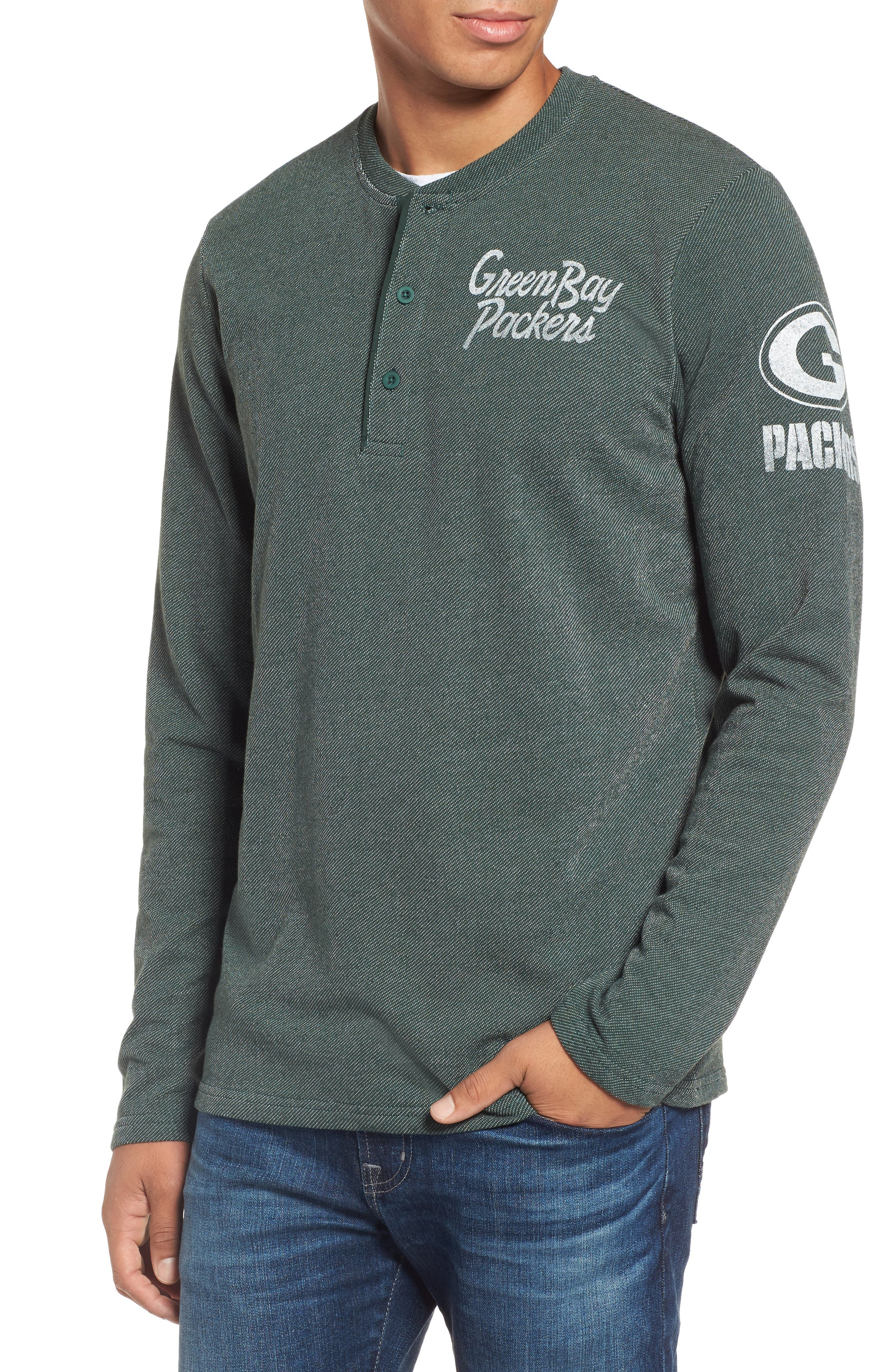 Green Bay Packers Henley,                         Main,                         color, Dark Green