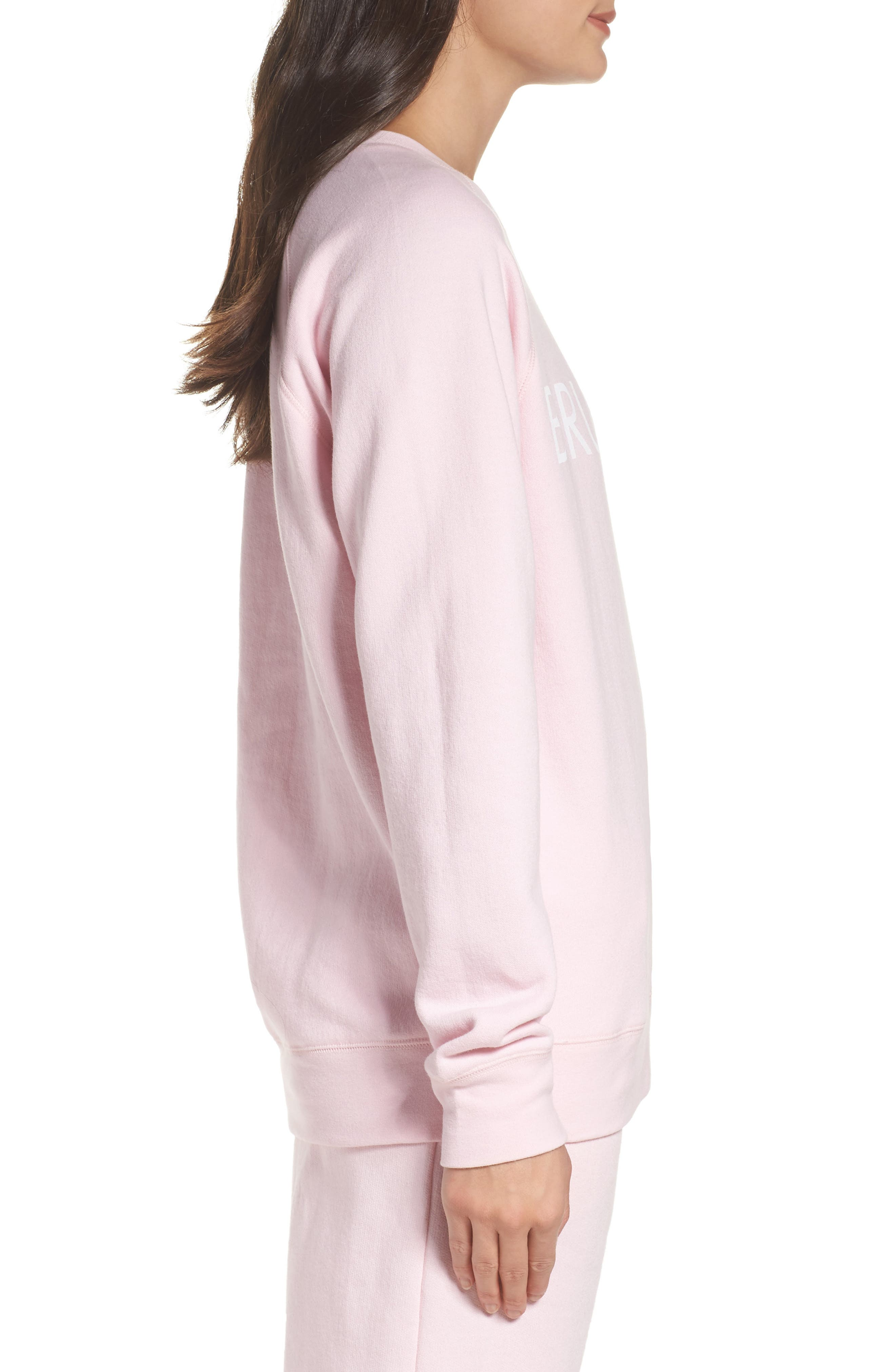 Brunette Crewneck Sweatshirt,                             Alternate thumbnail 3, color,                             Pink