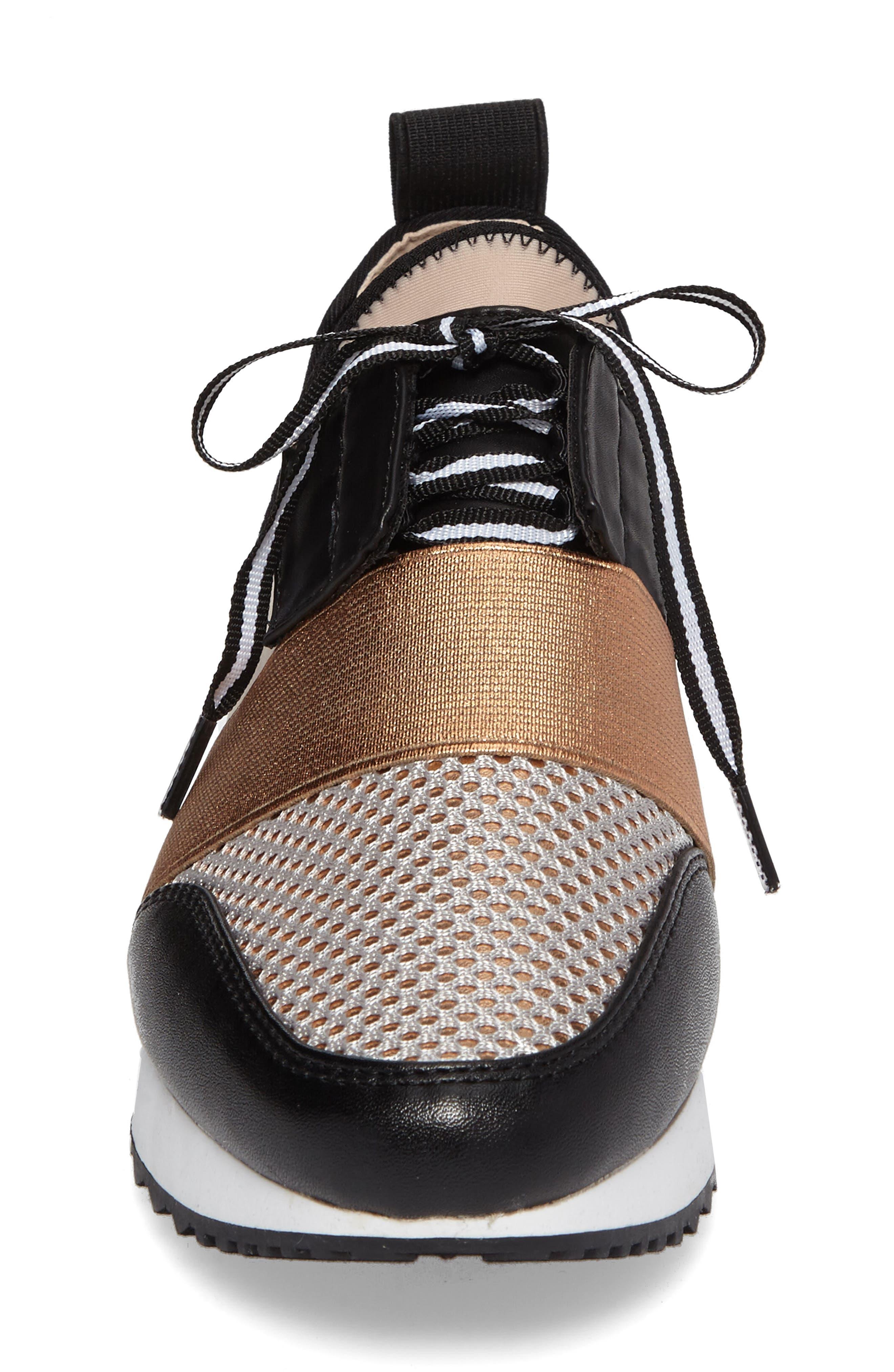 Antics Sneaker,                             Alternate thumbnail 4, color,                             Rose Gold Faux Leather