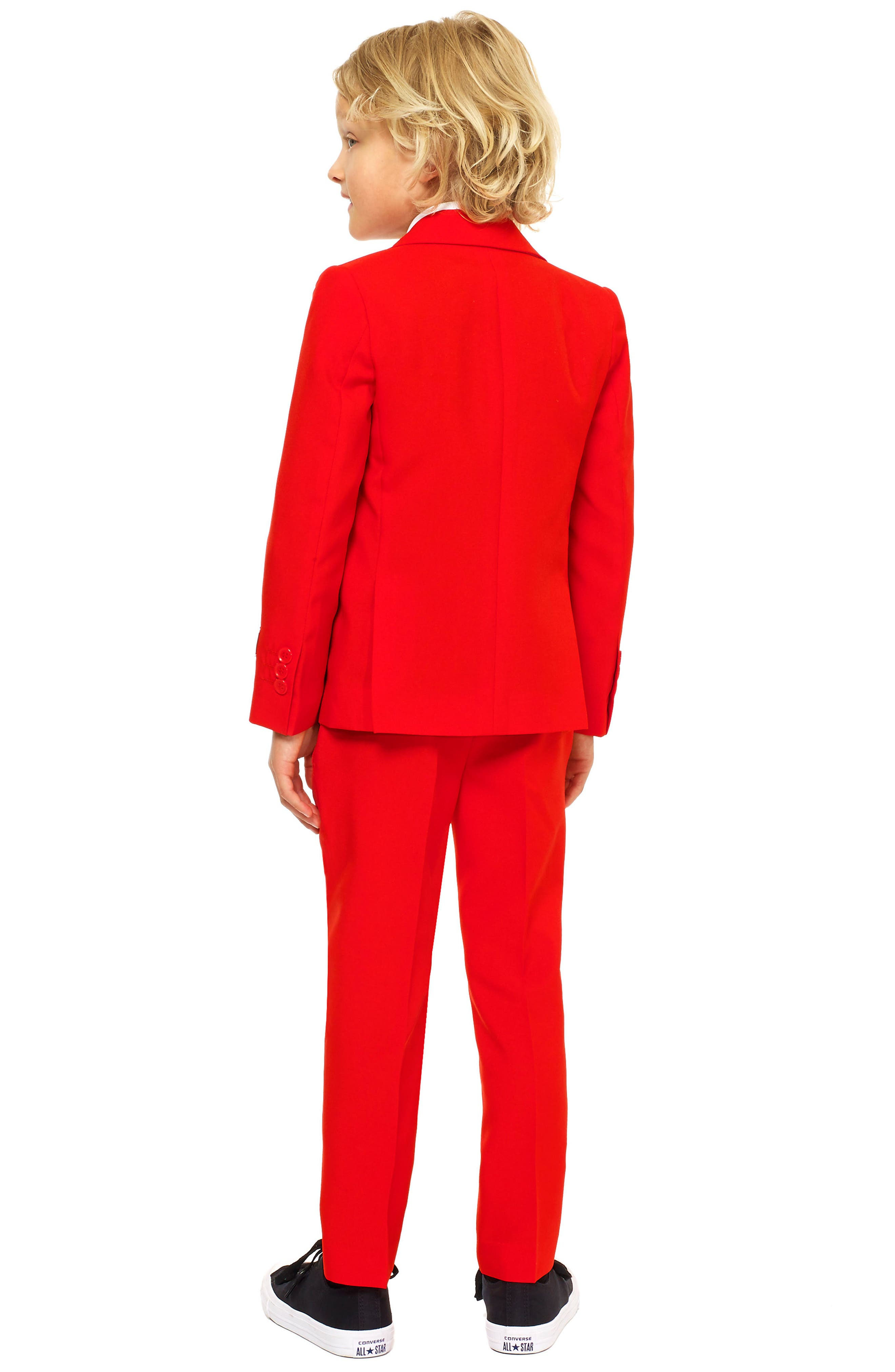 Oppo Red Devil Two-Piece Suit with Tie,                             Alternate thumbnail 2, color,                             Red