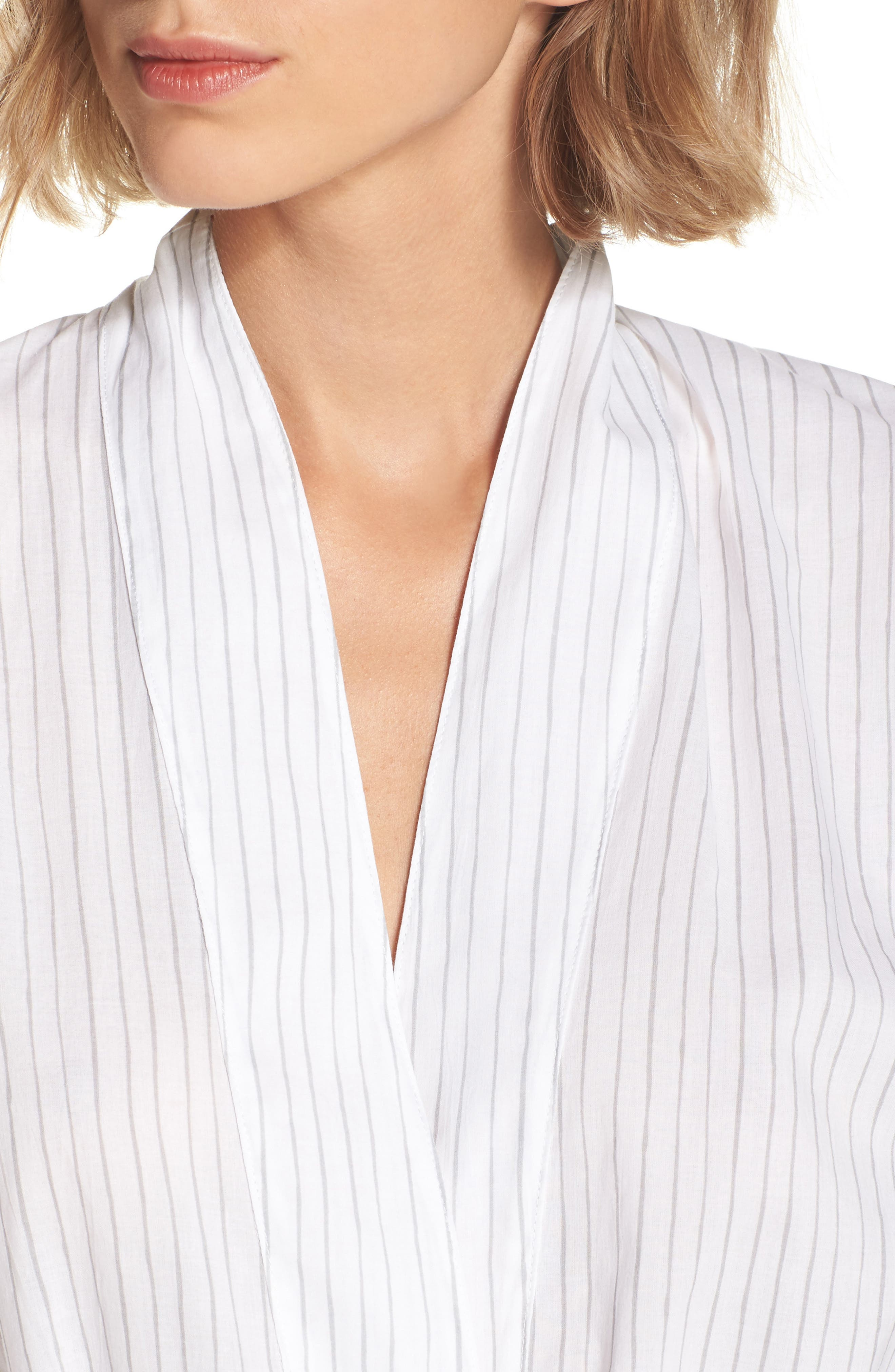 Alternate Image 3  - Pour Les Femmes Pinstripe Robe