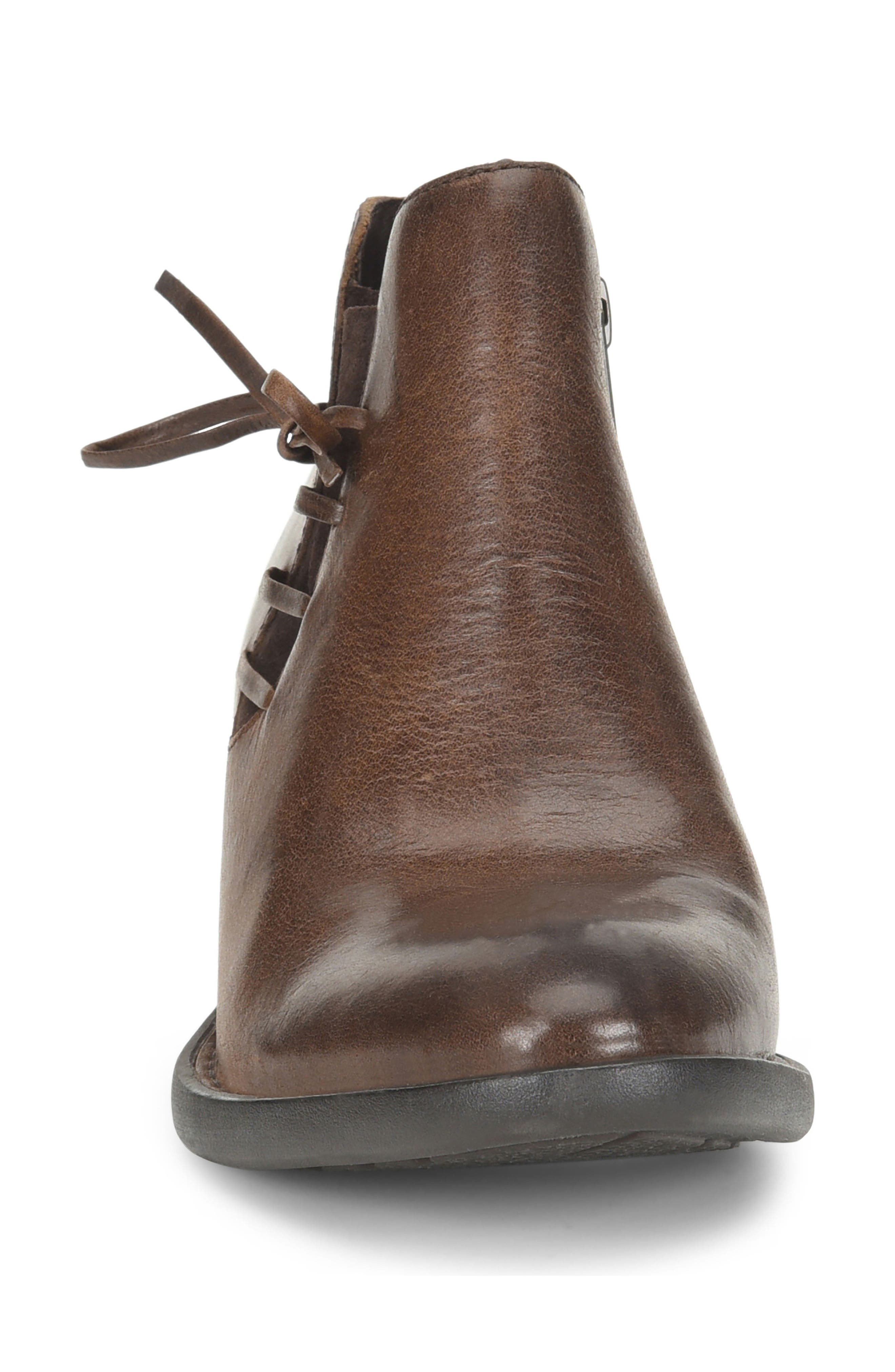 Bowlen Bootie,                             Alternate thumbnail 4, color,                             Brown Leather