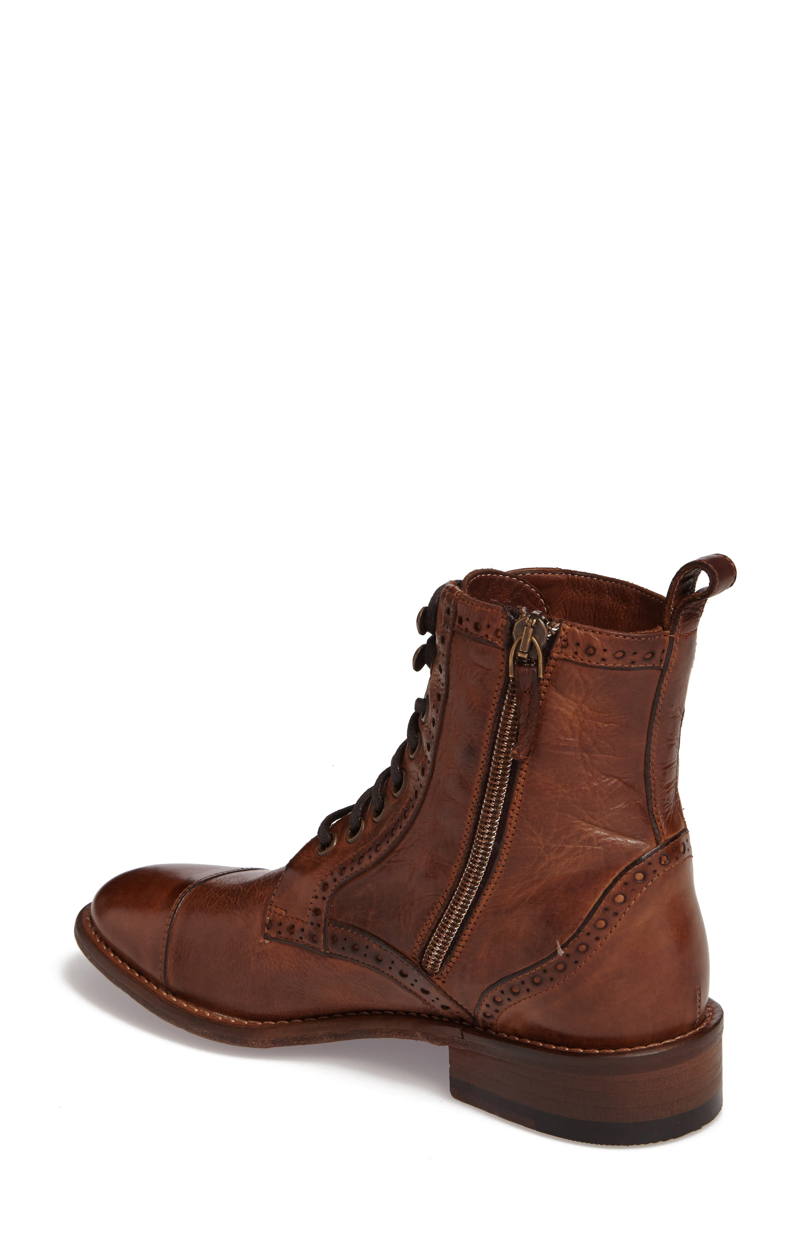 Natalie Boot,                             Alternate thumbnail 2, color,                             Mahogany Leather