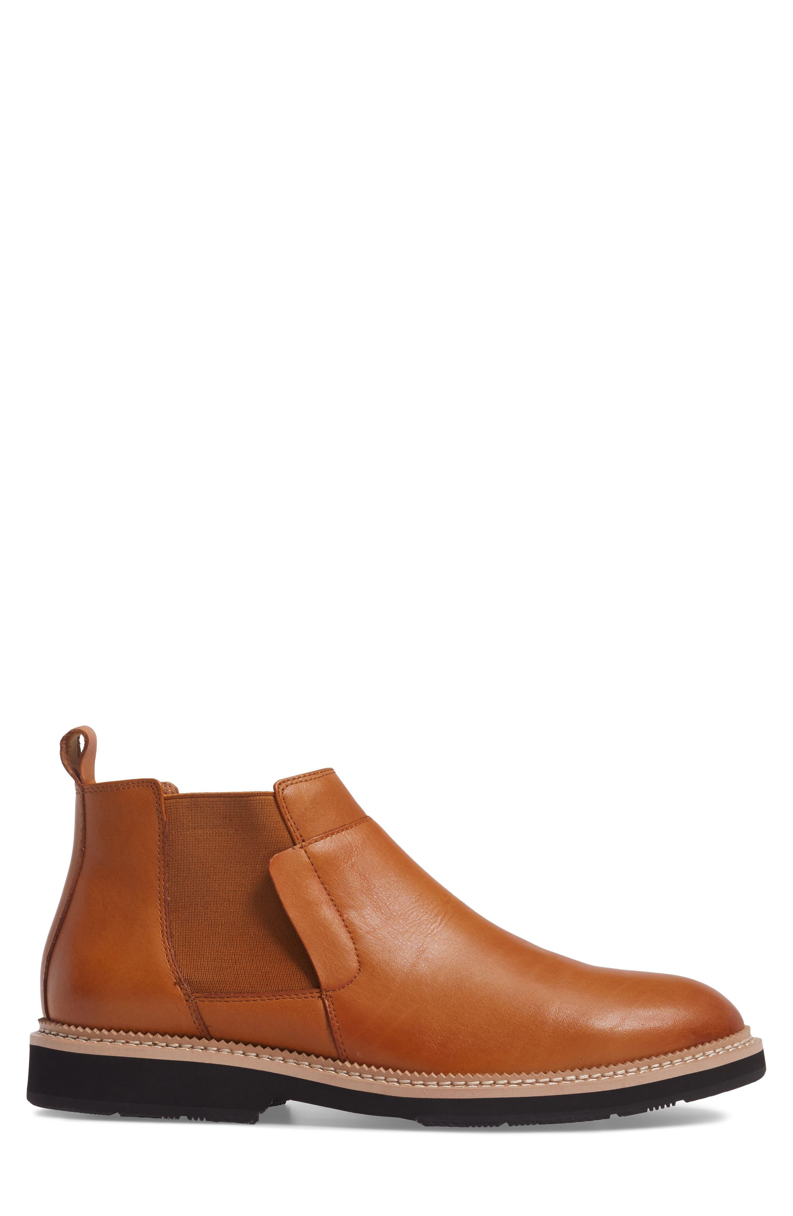 Garrad Chelsea Boot,                             Alternate thumbnail 3, color,                             Cognac Leather