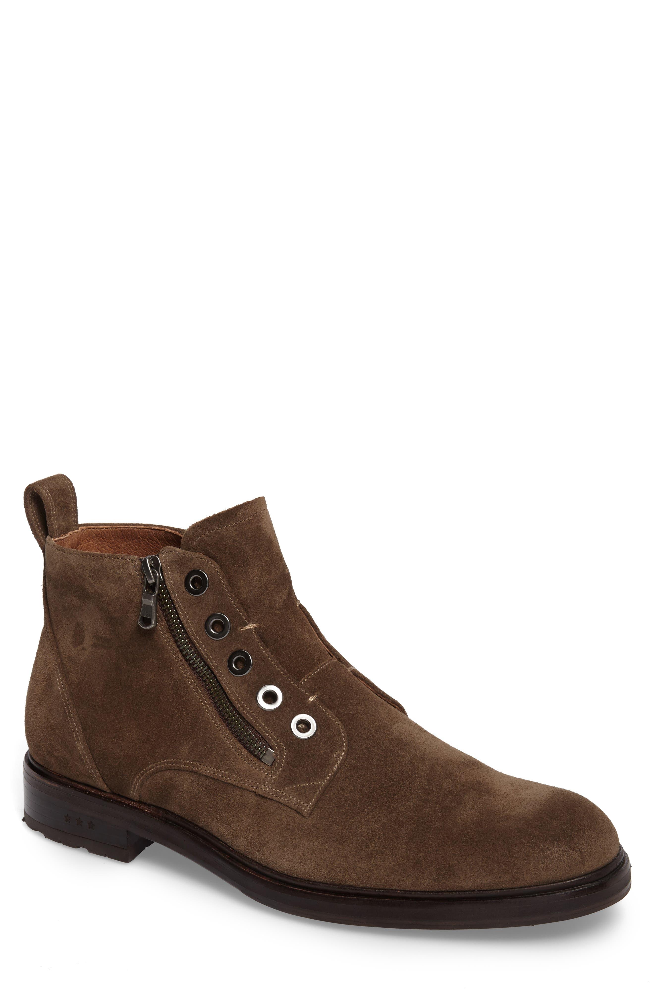 John Varvatos Star USA Waverley Zip Boot,                         Main,                         color, Brown