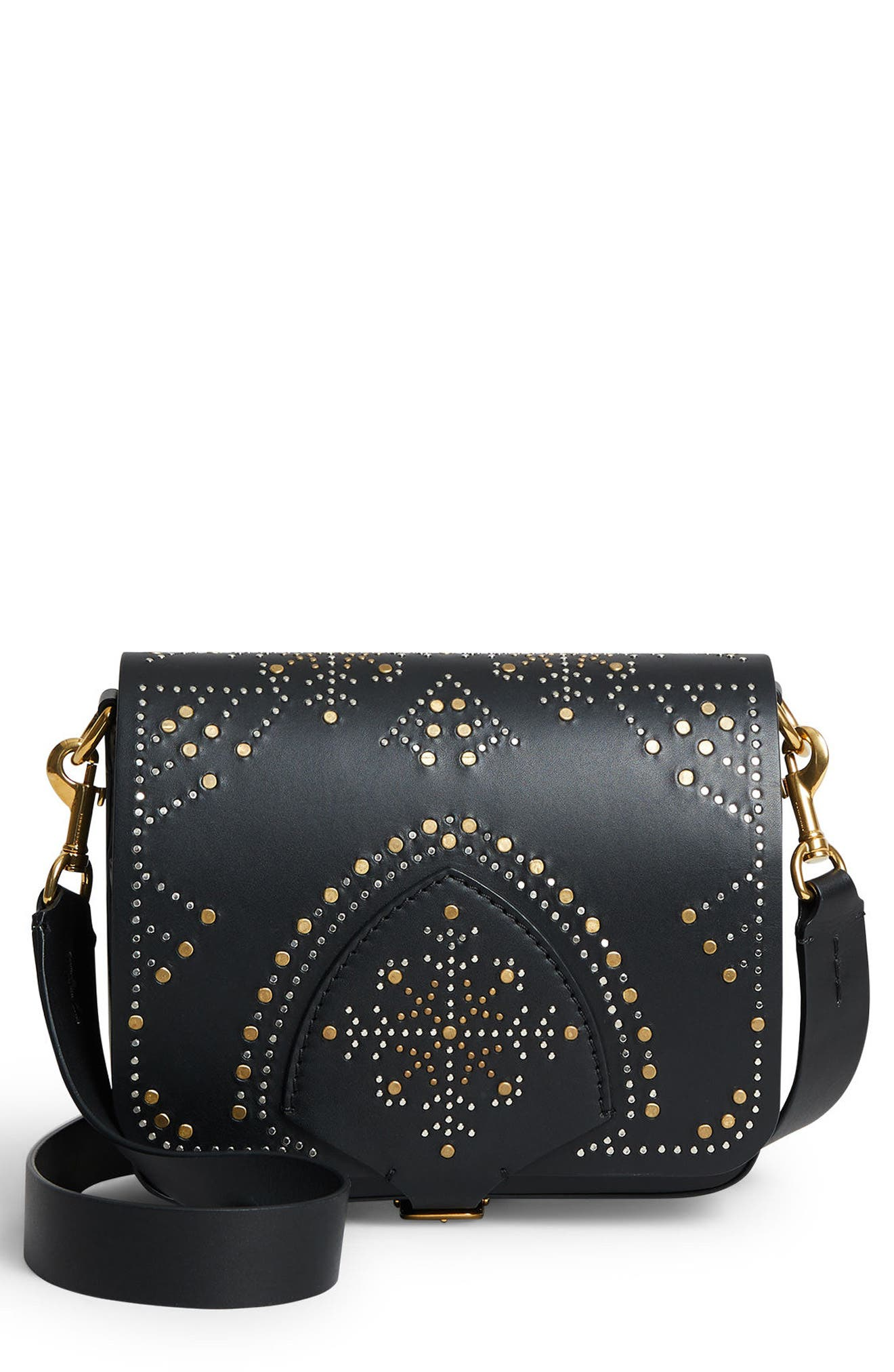 Burberry Studded Lambskin Leather Shoulder Bag