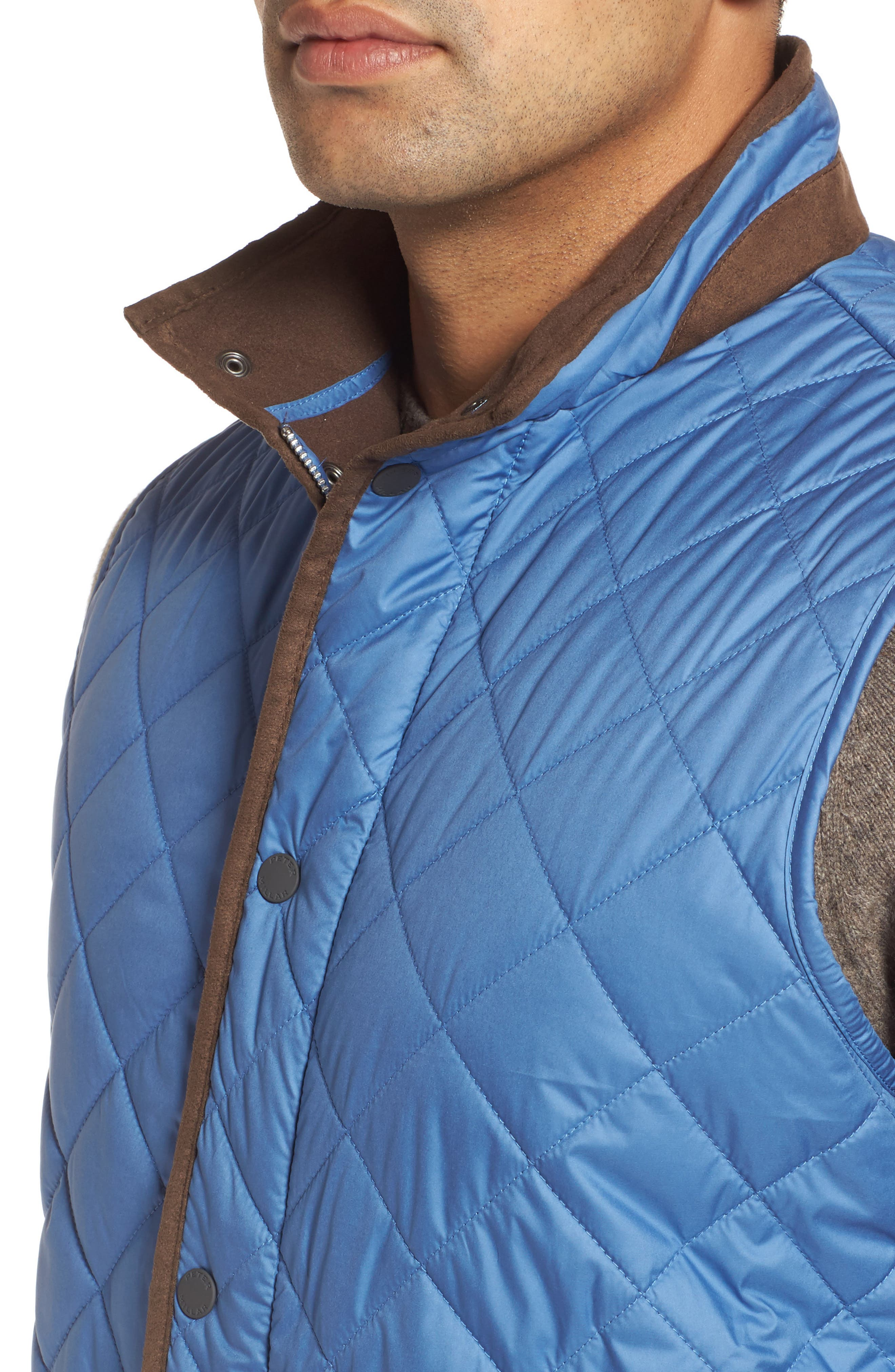 Essex Quilted Vest,                             Alternate thumbnail 4, color,                             Moon Blue