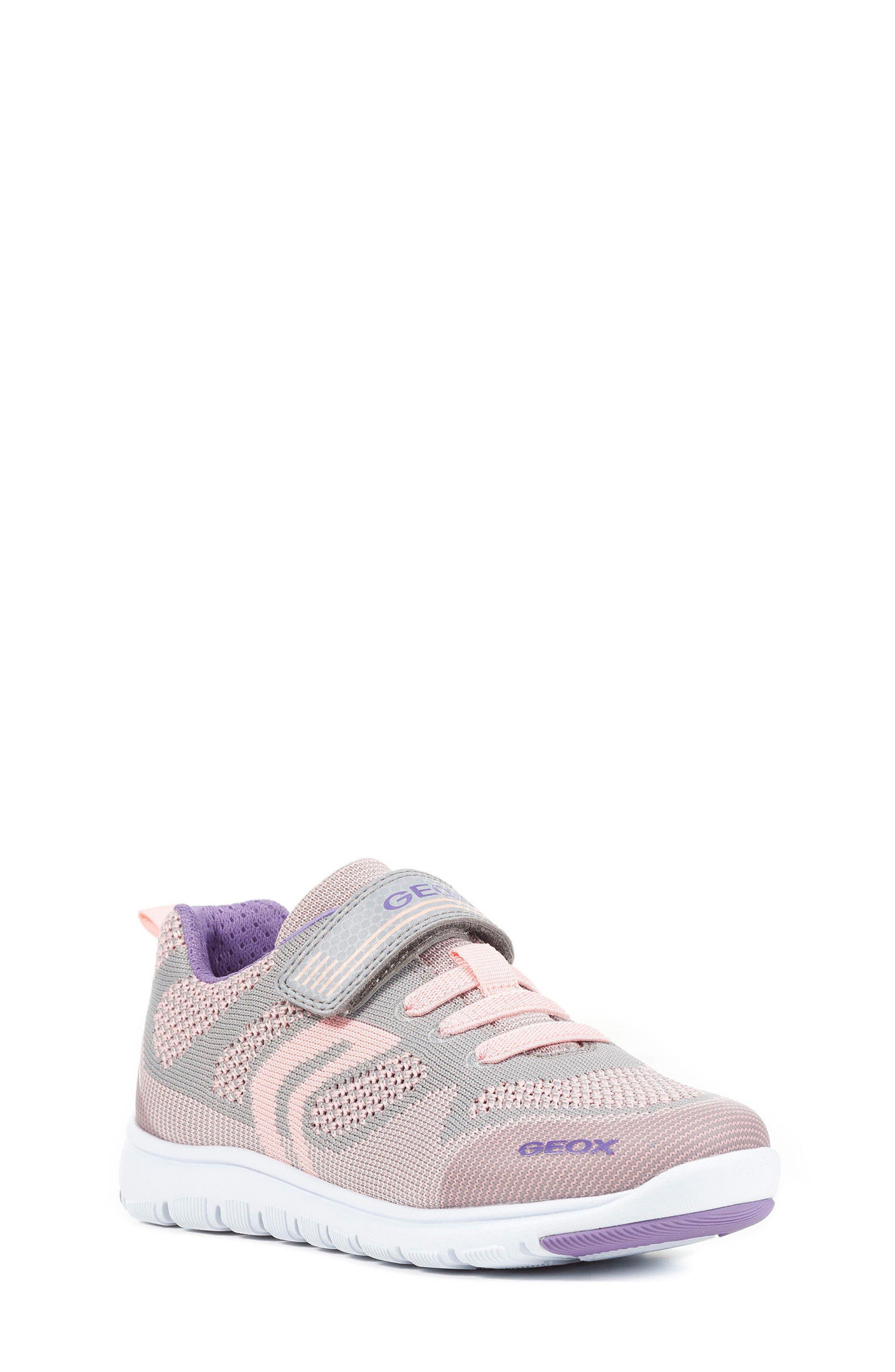 Alternate Image 1 Selected - Geox Xunday Low Top Woven Sneaker (Toddler, Little Kid & Big Kid)