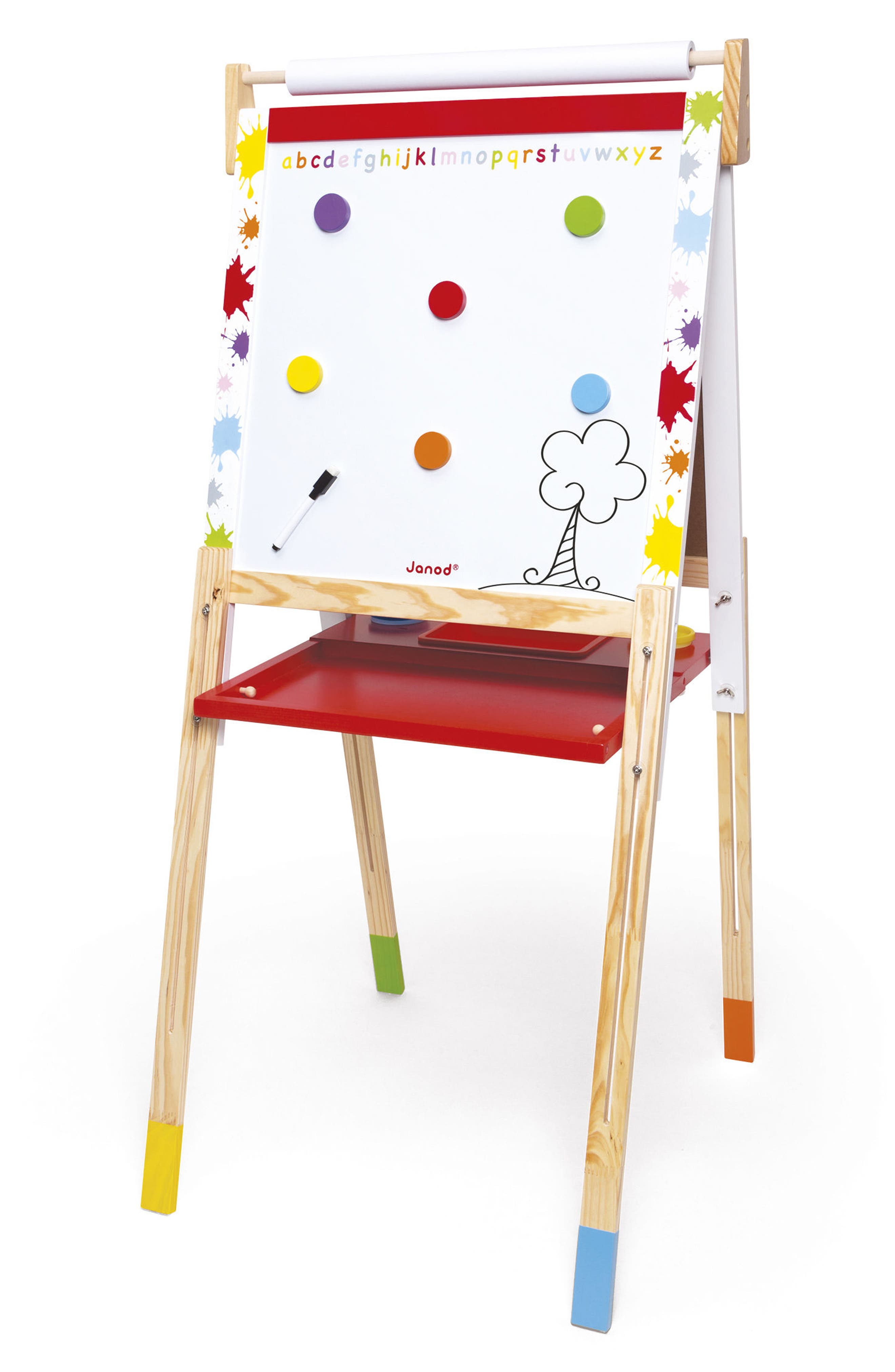 Adjustable Easel,                         Main,                         color, Red/ White
