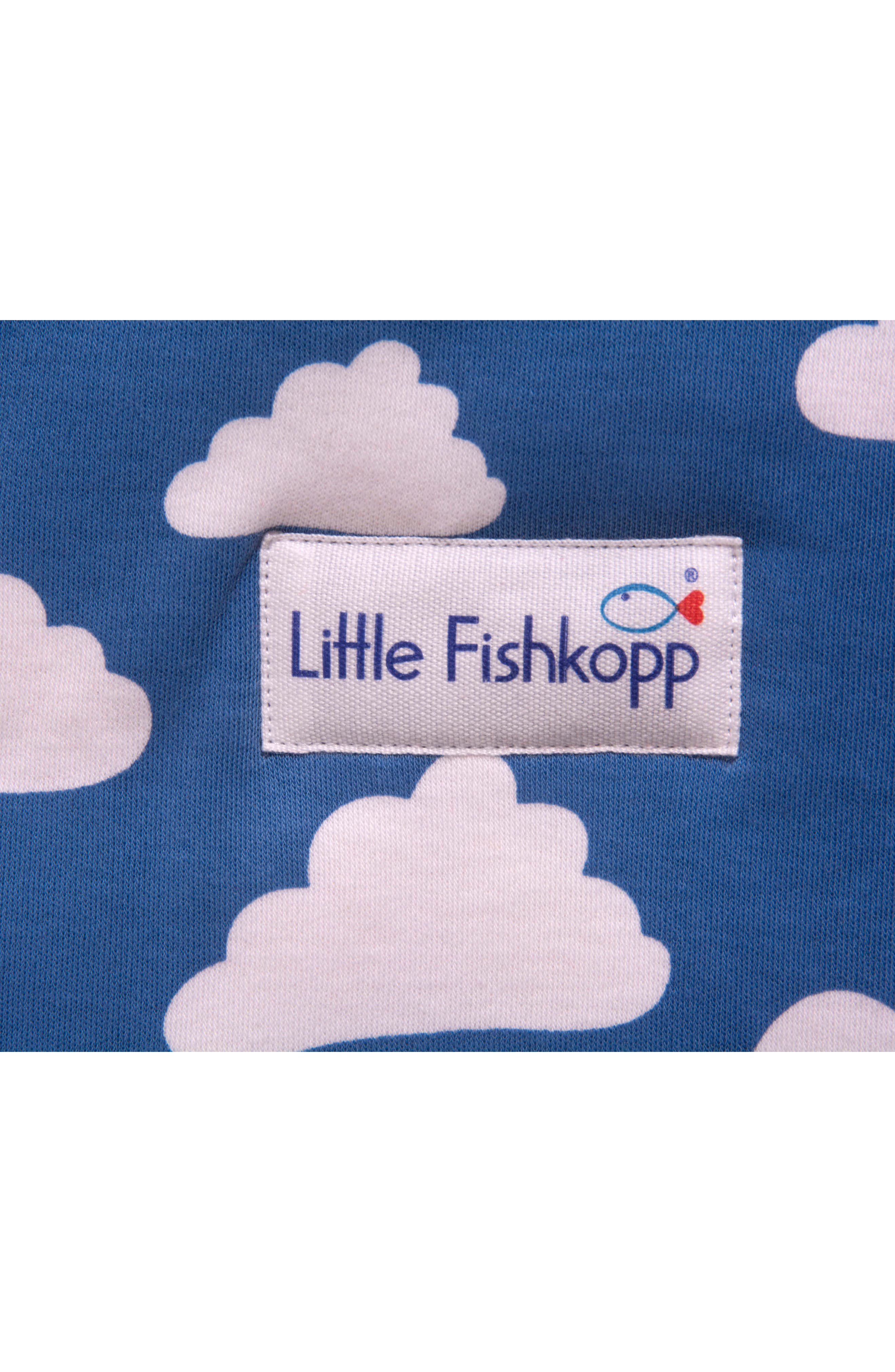 Alternate Image 5  - Little Fishkopp Clouds Organic Cotton Wearable Blanket (Baby)