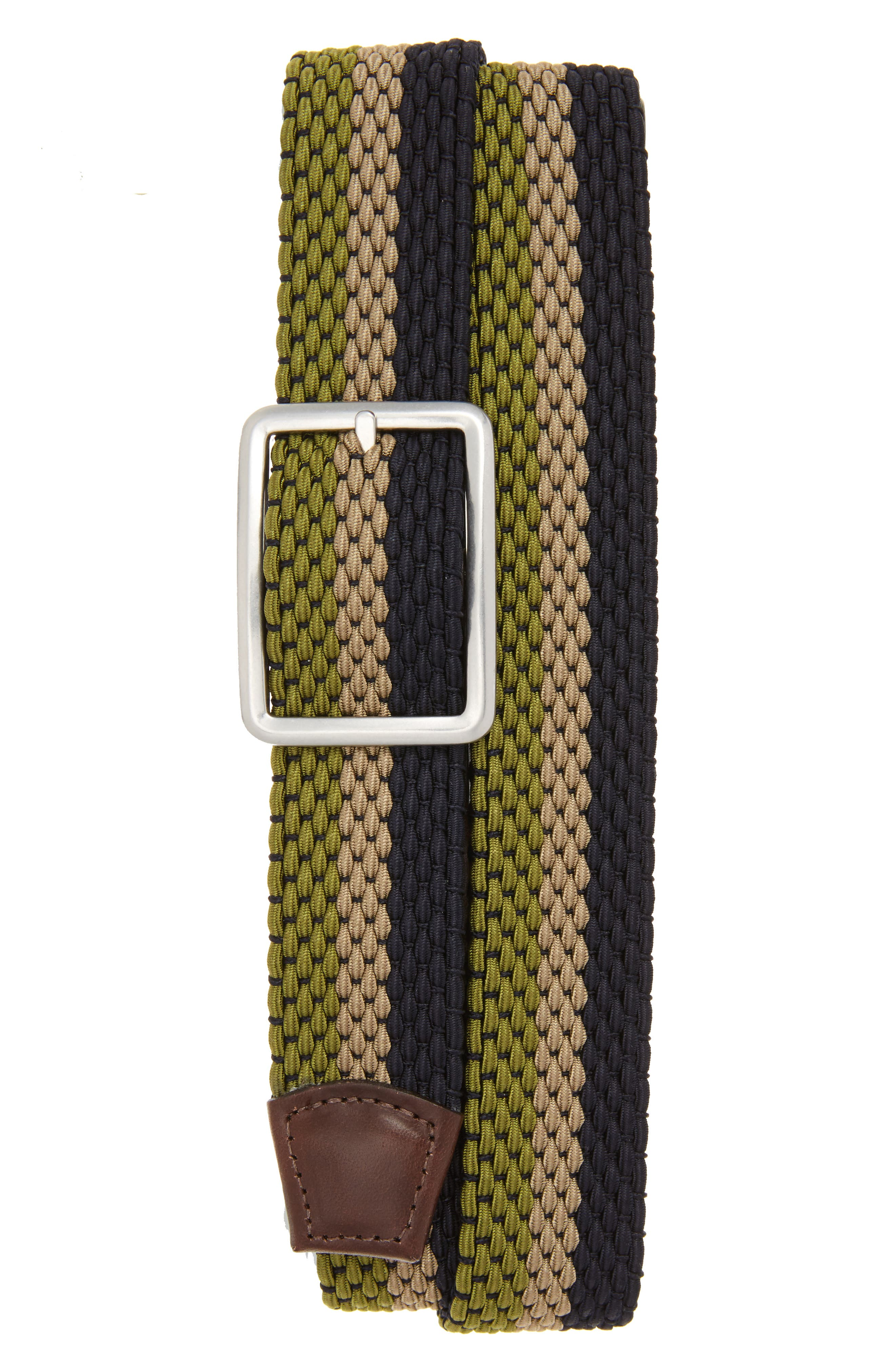 Torino Belts Tri Stripe Reversible Woven Belt