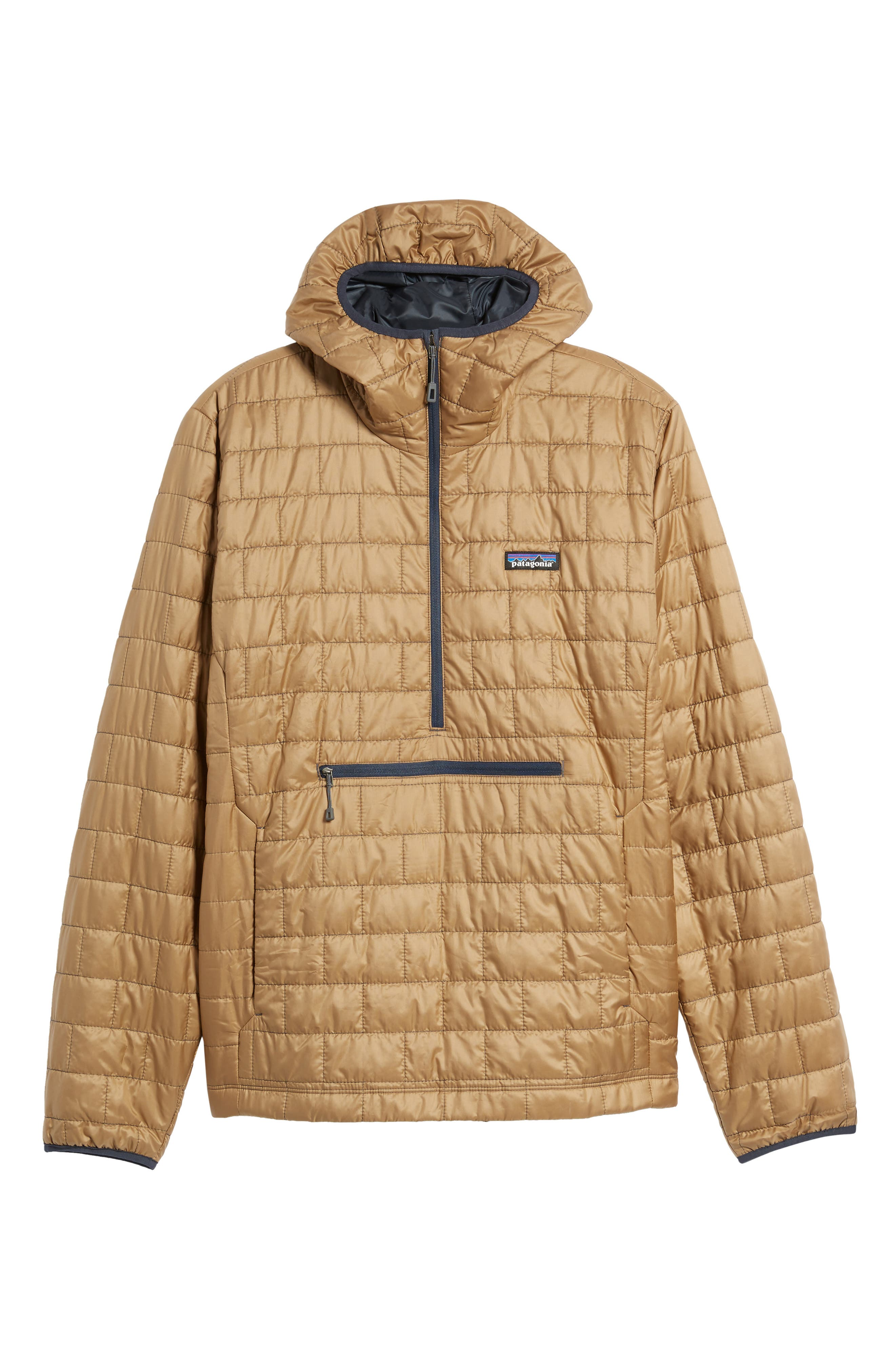 Nano Puff<sup>®</sup> Bivy Regular Fit Water Resistant Jacket,                             Alternate thumbnail 6, color,                             Mojave Khaki