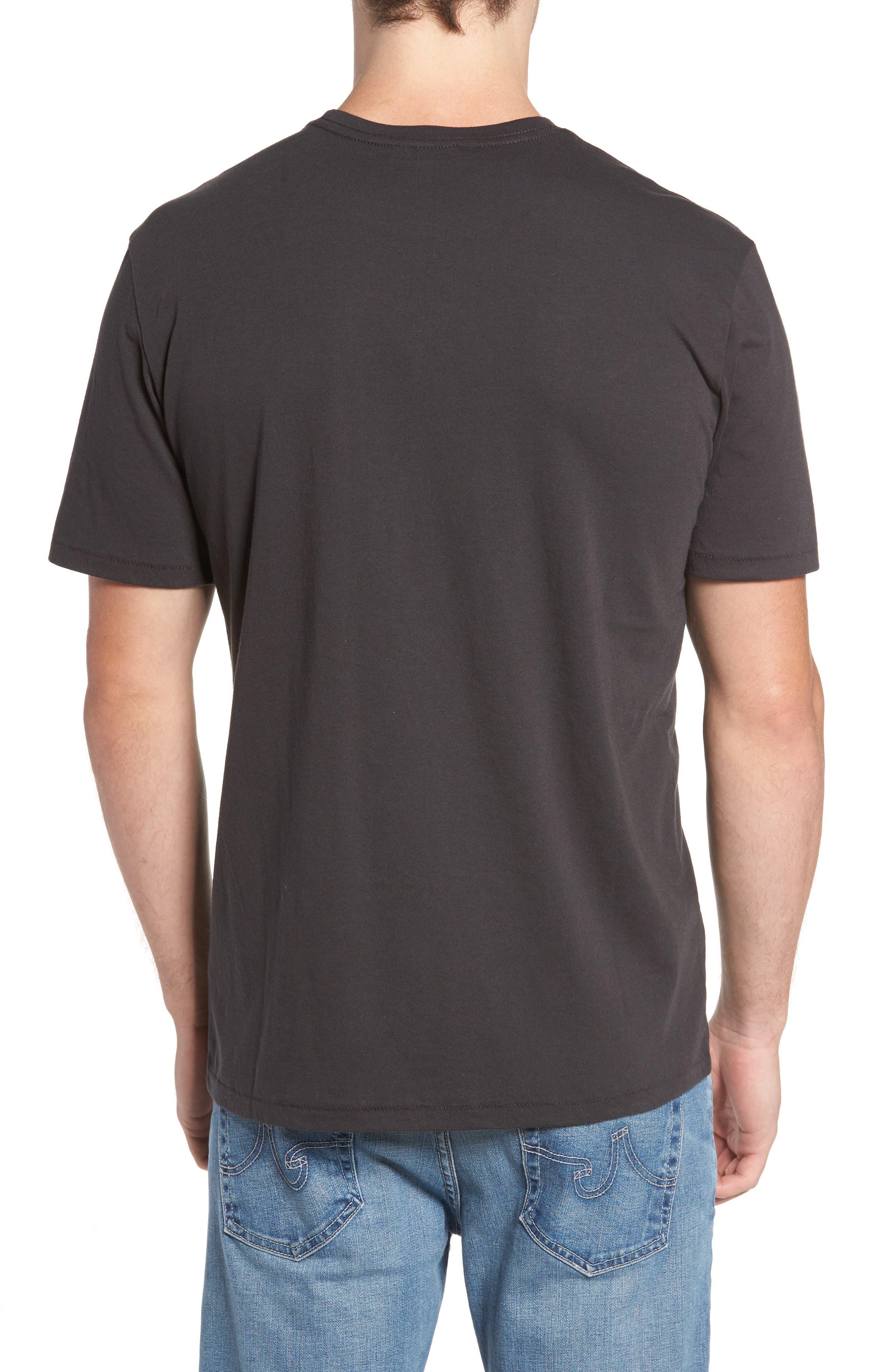 Broadcast T-Shirt,                             Alternate thumbnail 2, color,                             Washed Black