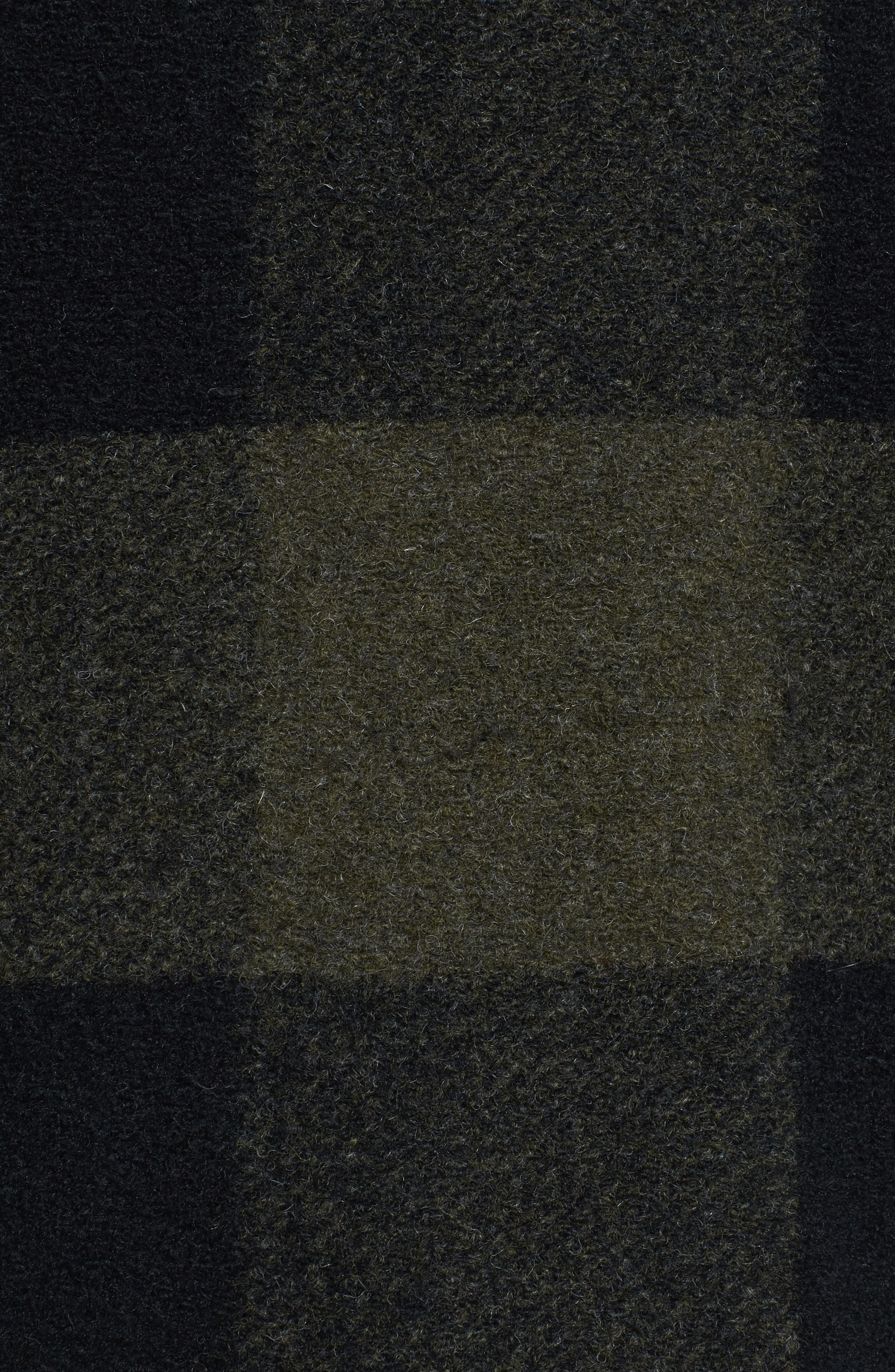 Paul Bunyan Plaid Wool Blend Barn Coat,                             Alternate thumbnail 5, color,                             Olive/ Black Plaid