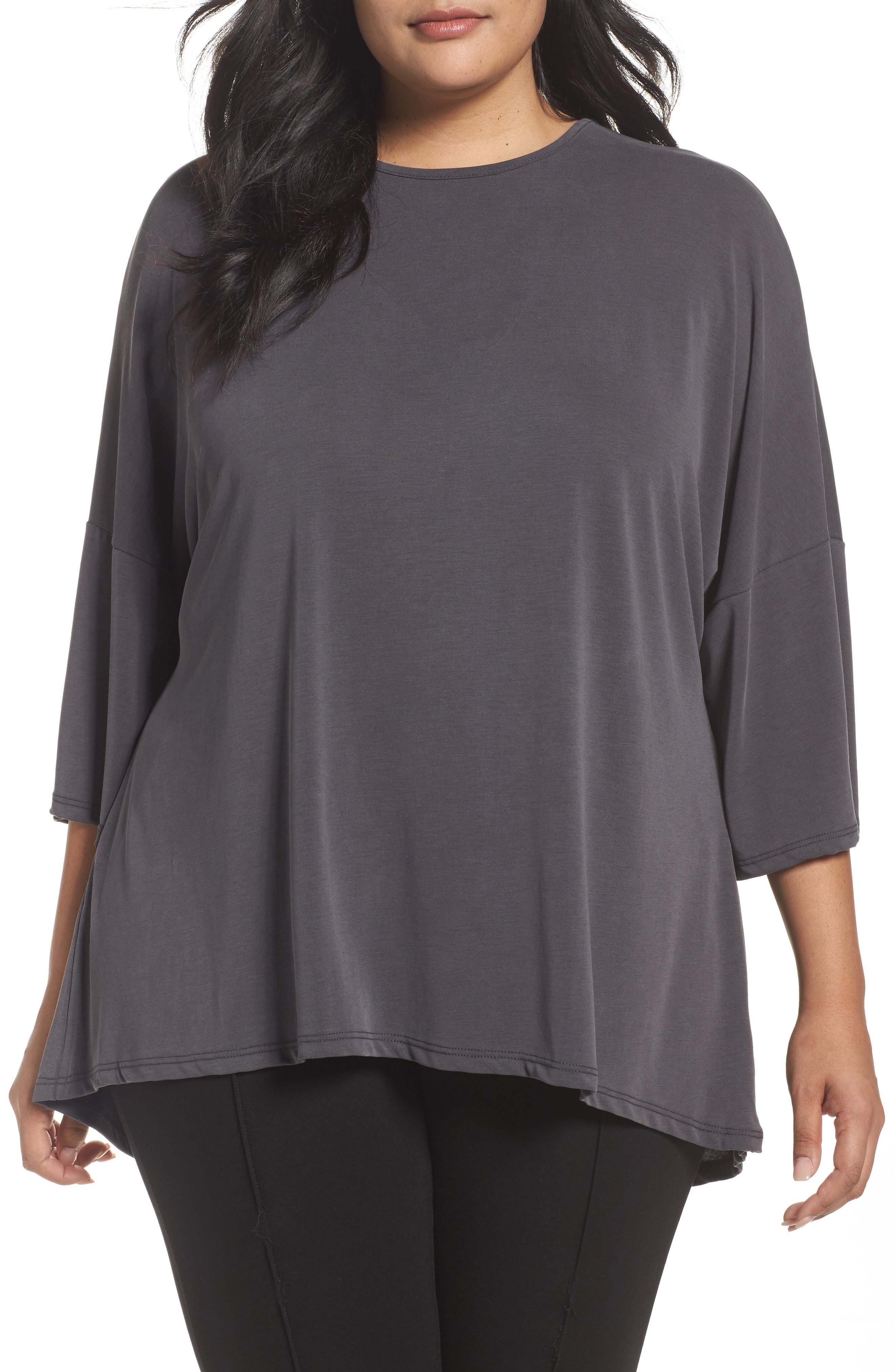Alternate Image 1 Selected - Sejour Cross Back Knit Top (Plus Size)