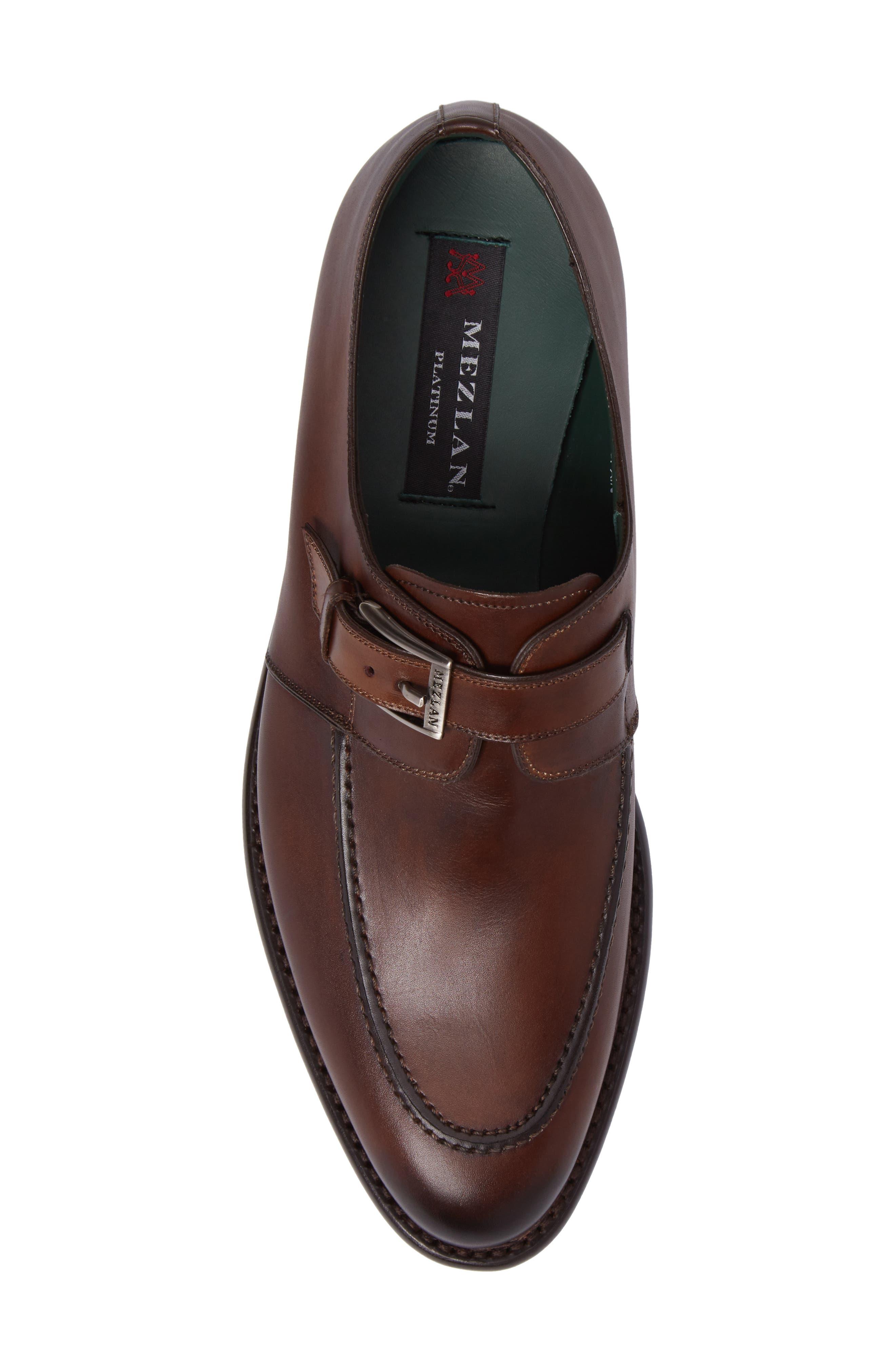 Aguilar Monk Strap Shoe,                             Alternate thumbnail 5, color,                             Cognac Leather