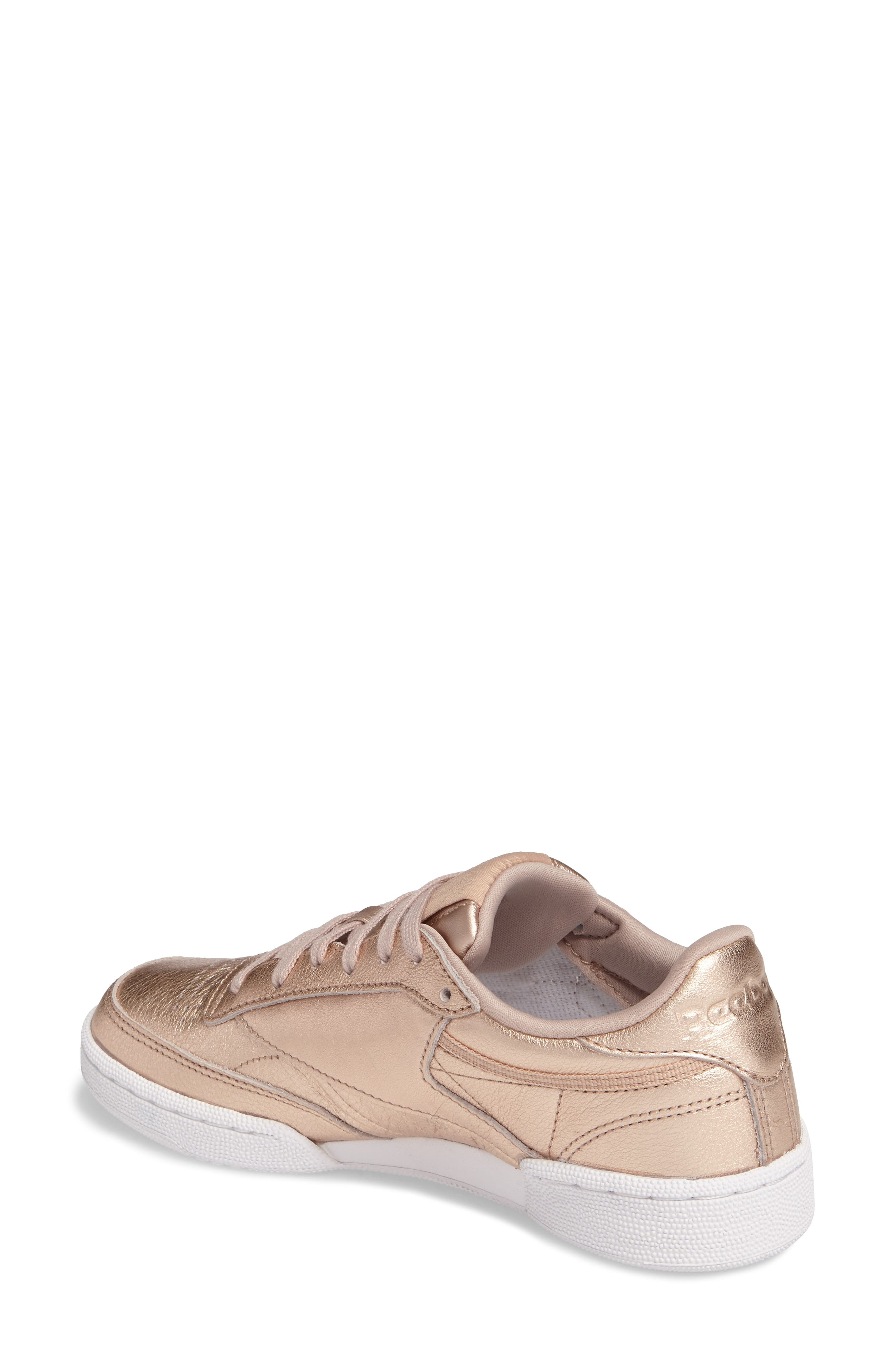 Club C 85 Sneaker,                             Alternate thumbnail 2, color,                             Peach/ White Pearl
