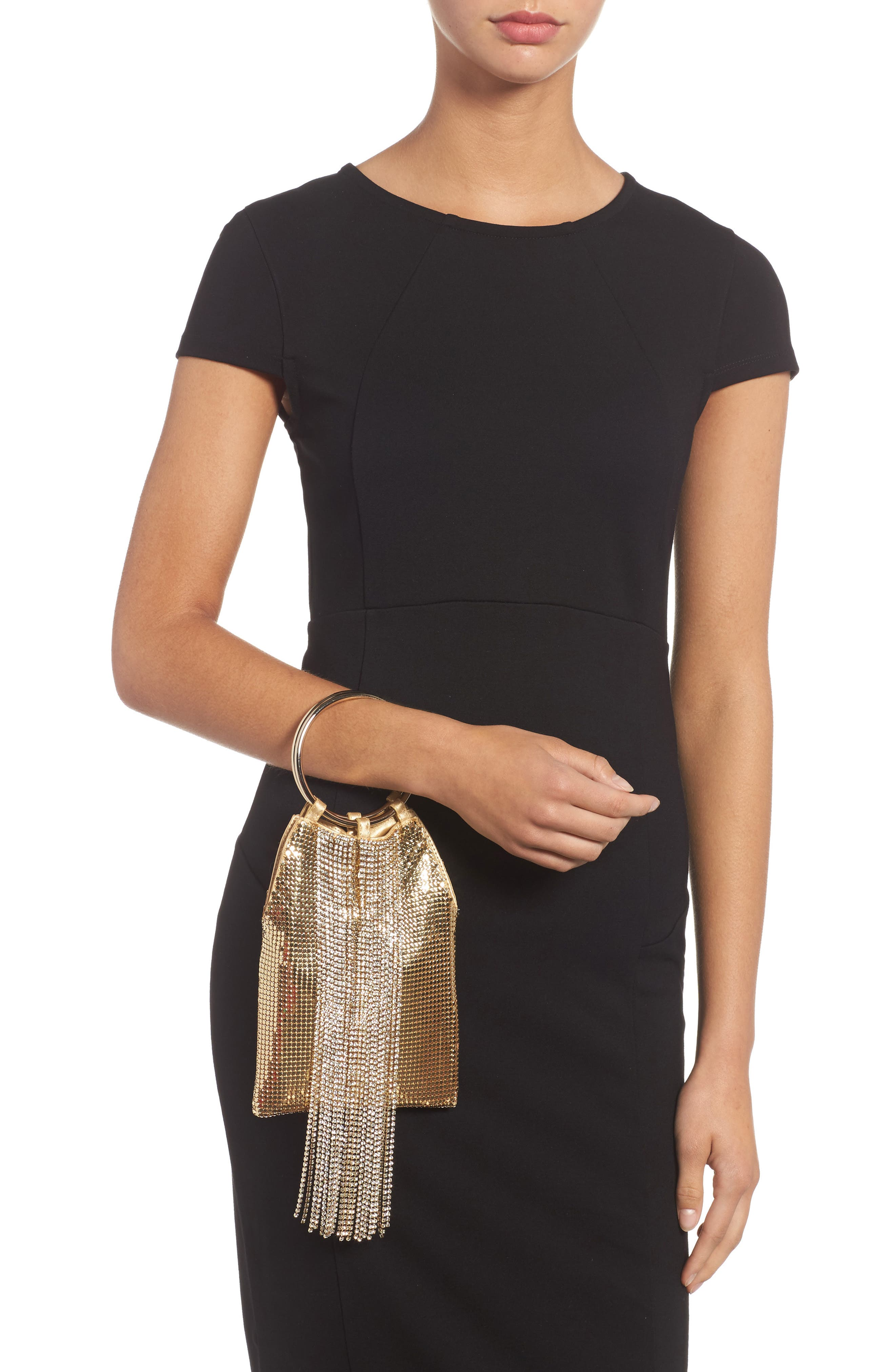 Alternate Image 2  - Whiting & Davis Cascade Crystal Fringe Mesh Bracelet Bag
