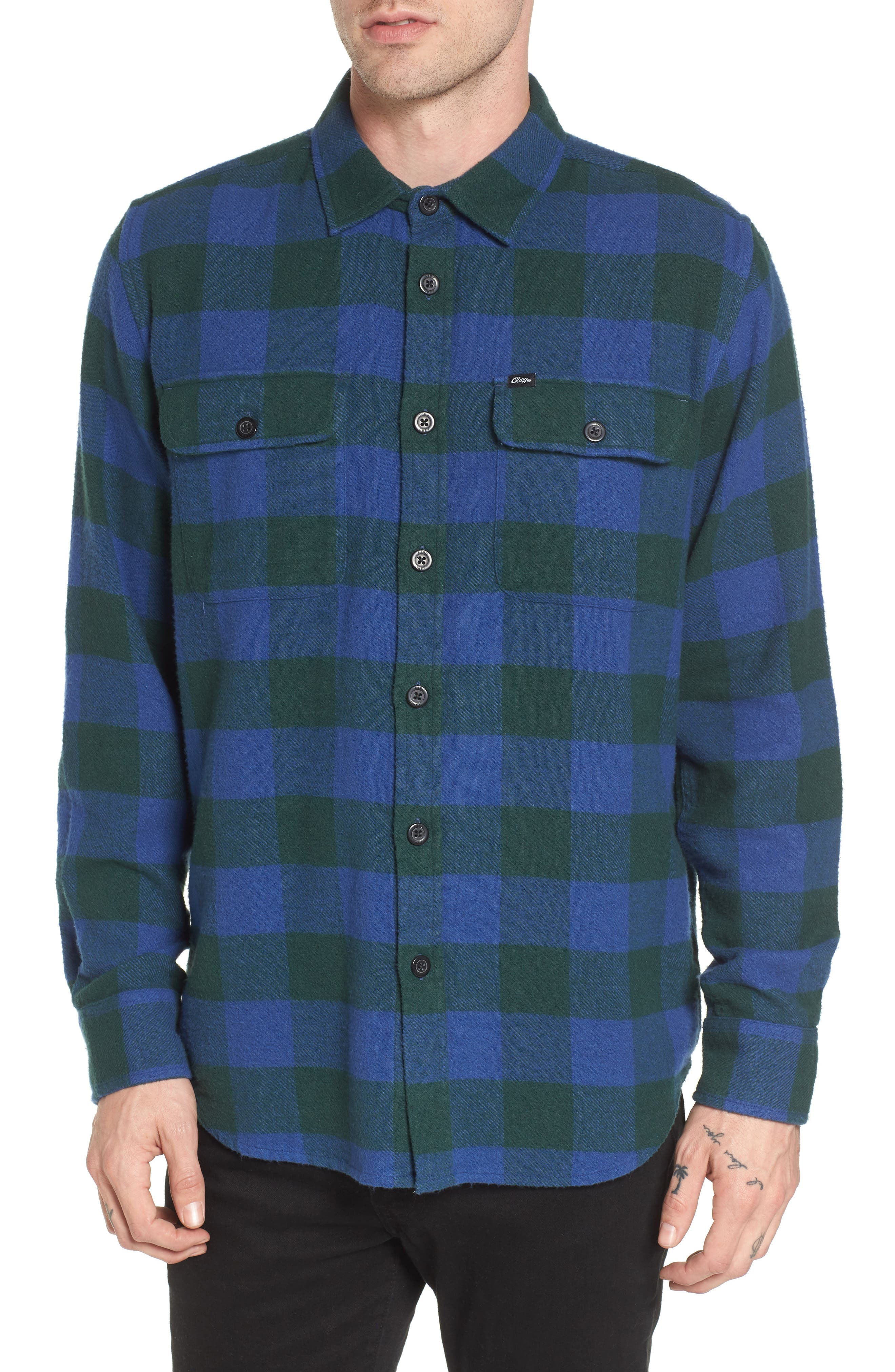 Main Image - Obey Trent Check Woven Shirt