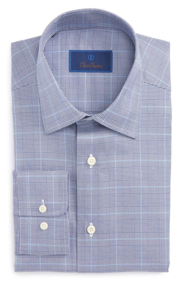 David Donahue Regular Fit Plaid Dress Shirt Nordstrom