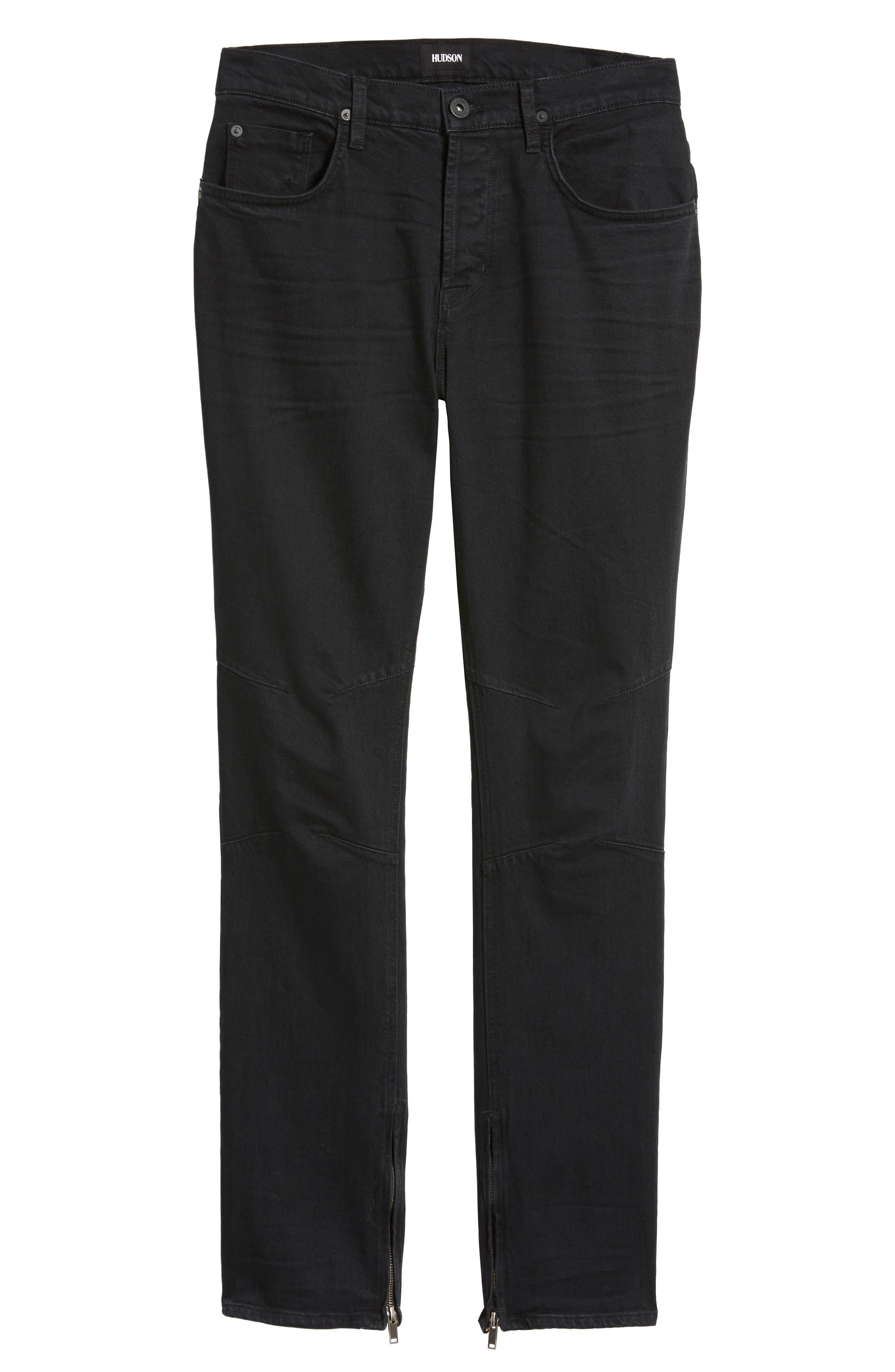 Alternate Image 6  - Hudson Jeans Vaughn Biker Skinny Fit Jeans (Gamble)