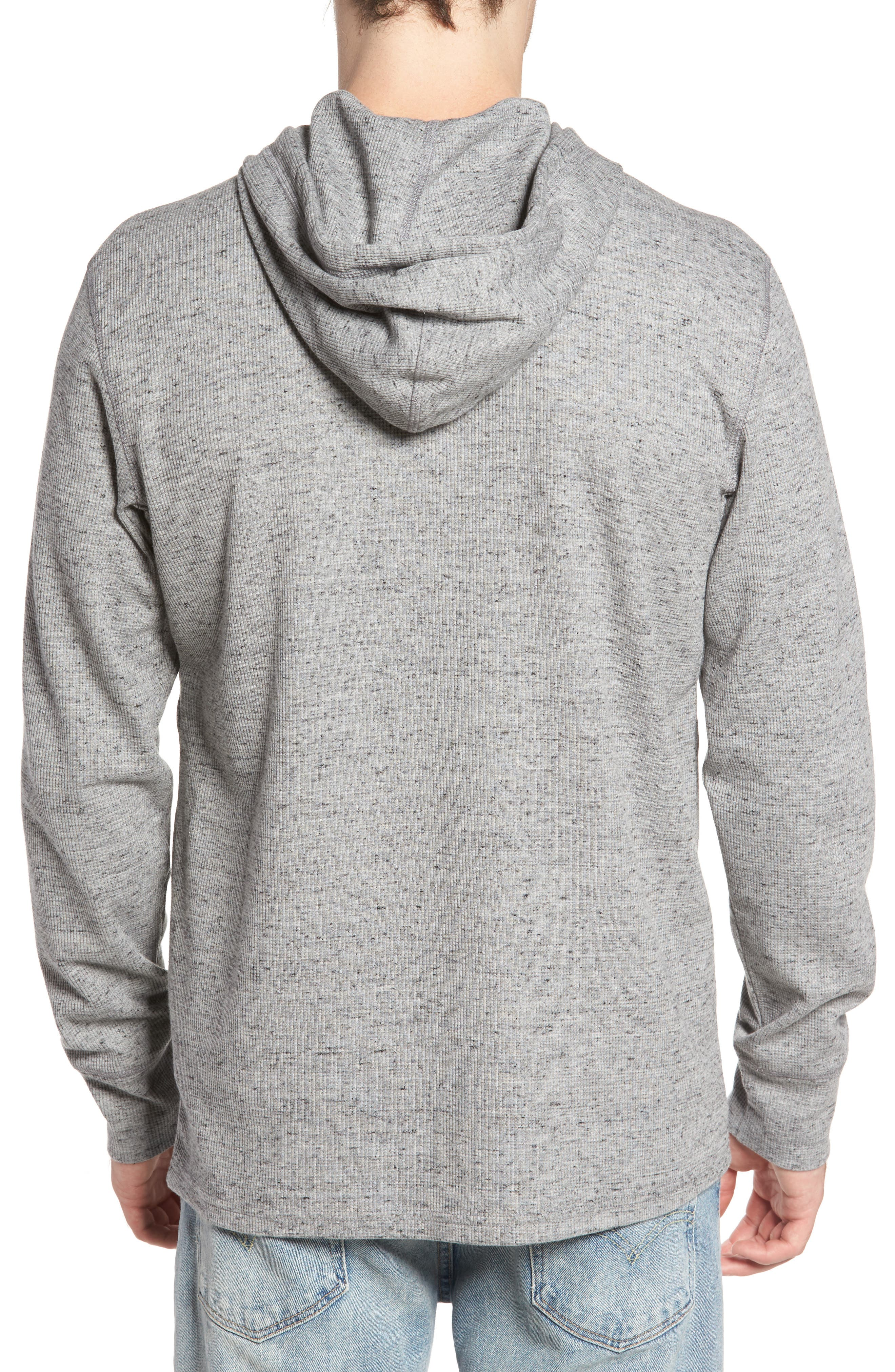Boldin Thermal Pullover Hoodie,                             Alternate thumbnail 2, color,                             Light Grey