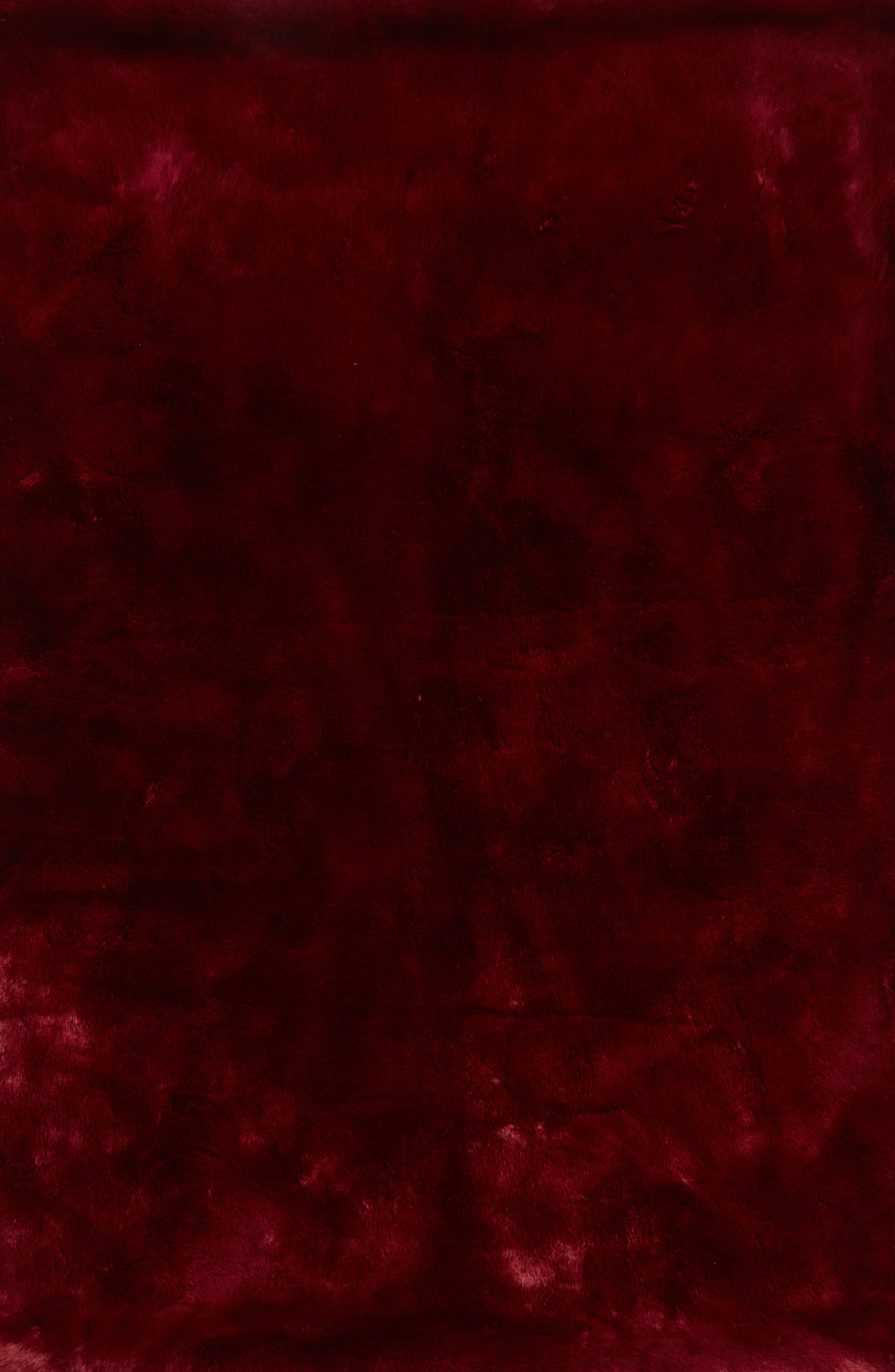 Cuddle Up Faux Fur Throw Blanket,                             Alternate thumbnail 2, color,                             Red Pomegranite