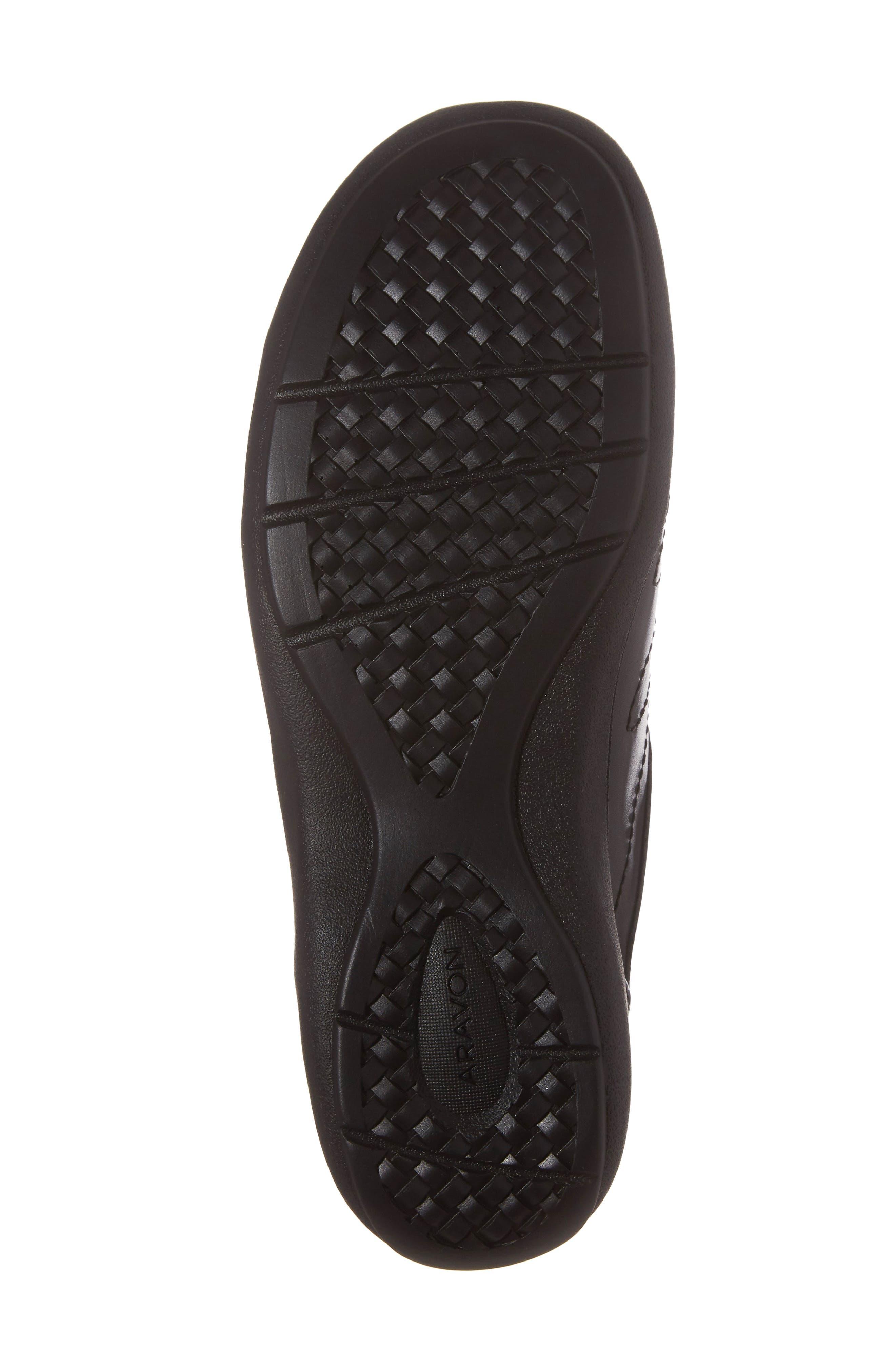 Bromly Sneaker,                             Alternate thumbnail 6, color,                             Black Leather