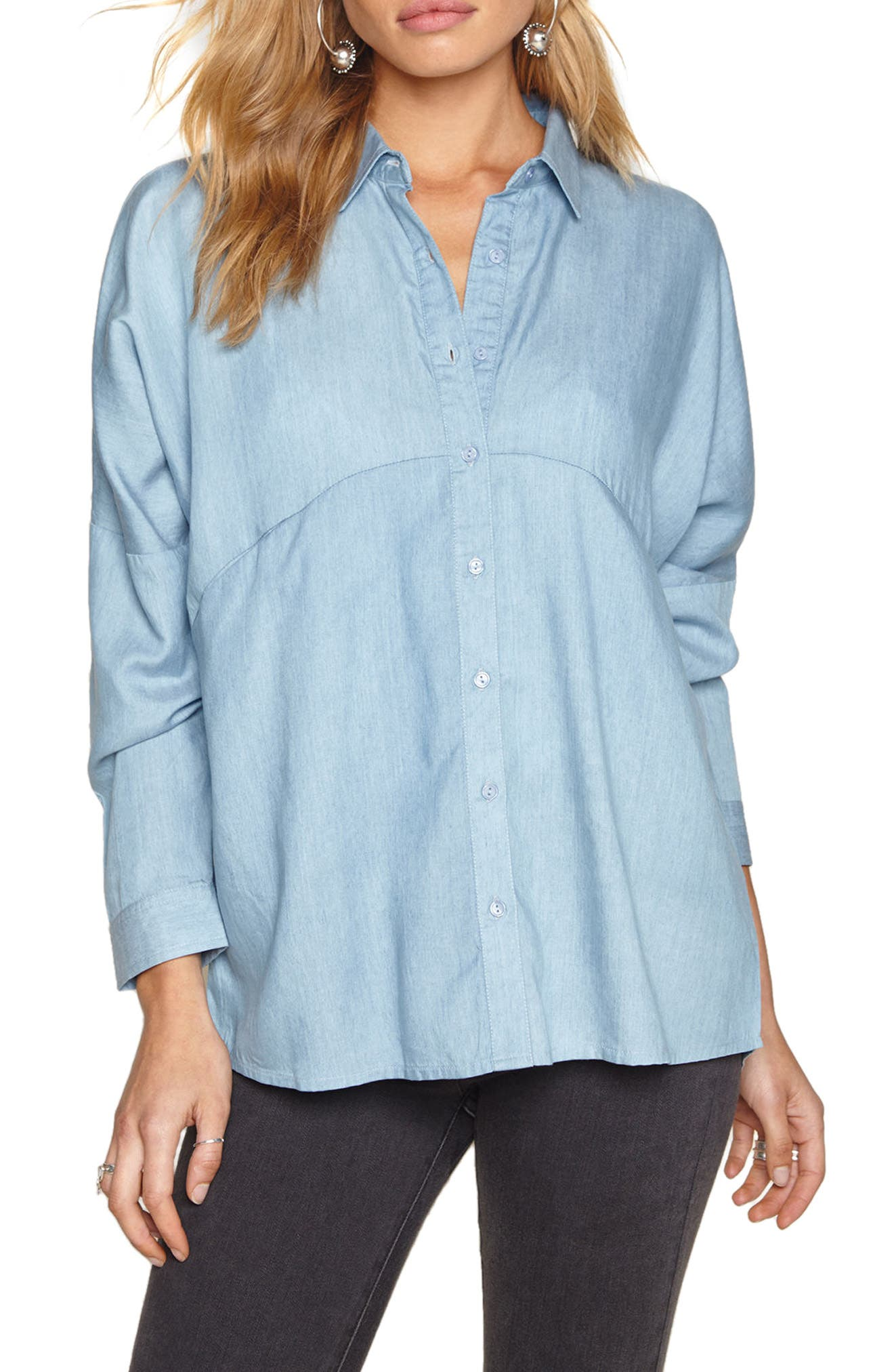 Alternate Image 1 Selected - Amuse Society Casual Fridays Chambray Shirt