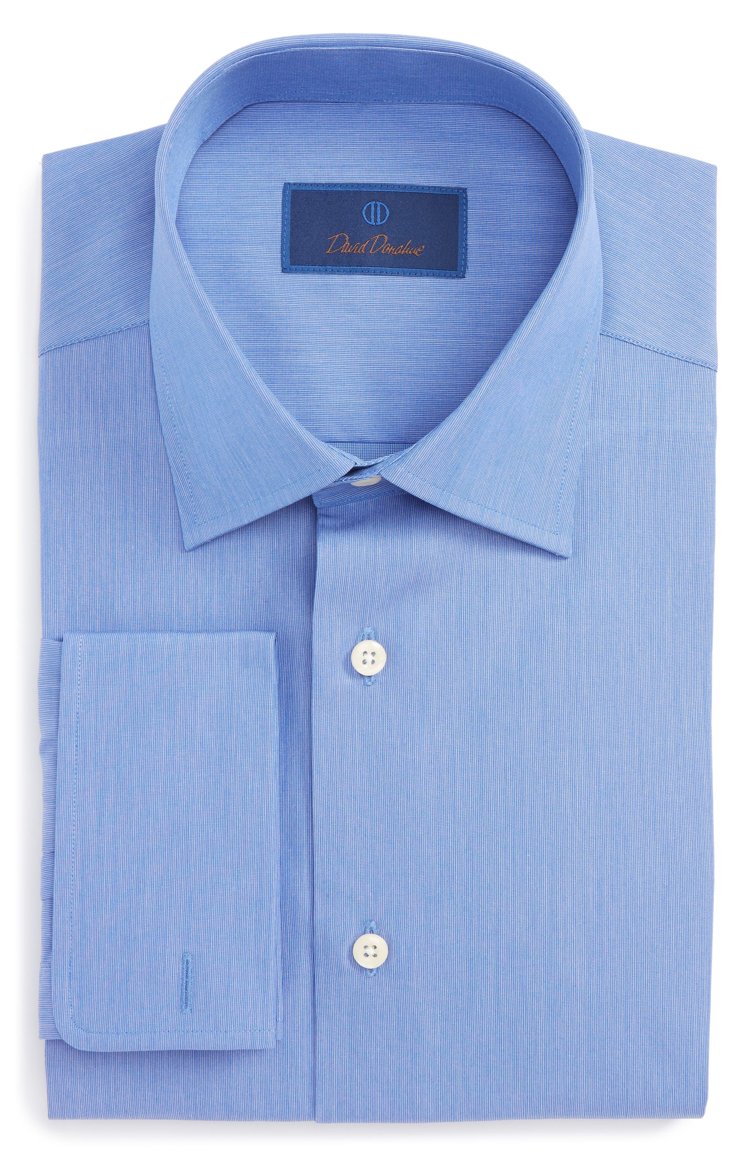 Alternate Image 1 Selected - David Donahue Regular Fit Solid Dress Shirt