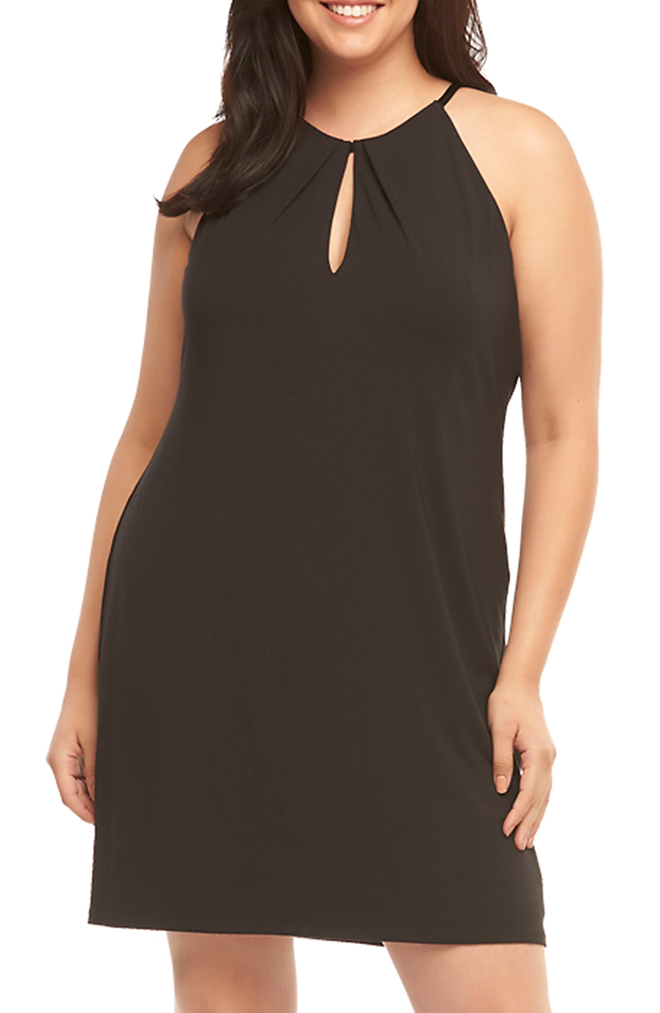 Tart Mirabelle Keyhole Neck Shift Dress (Plus Size)