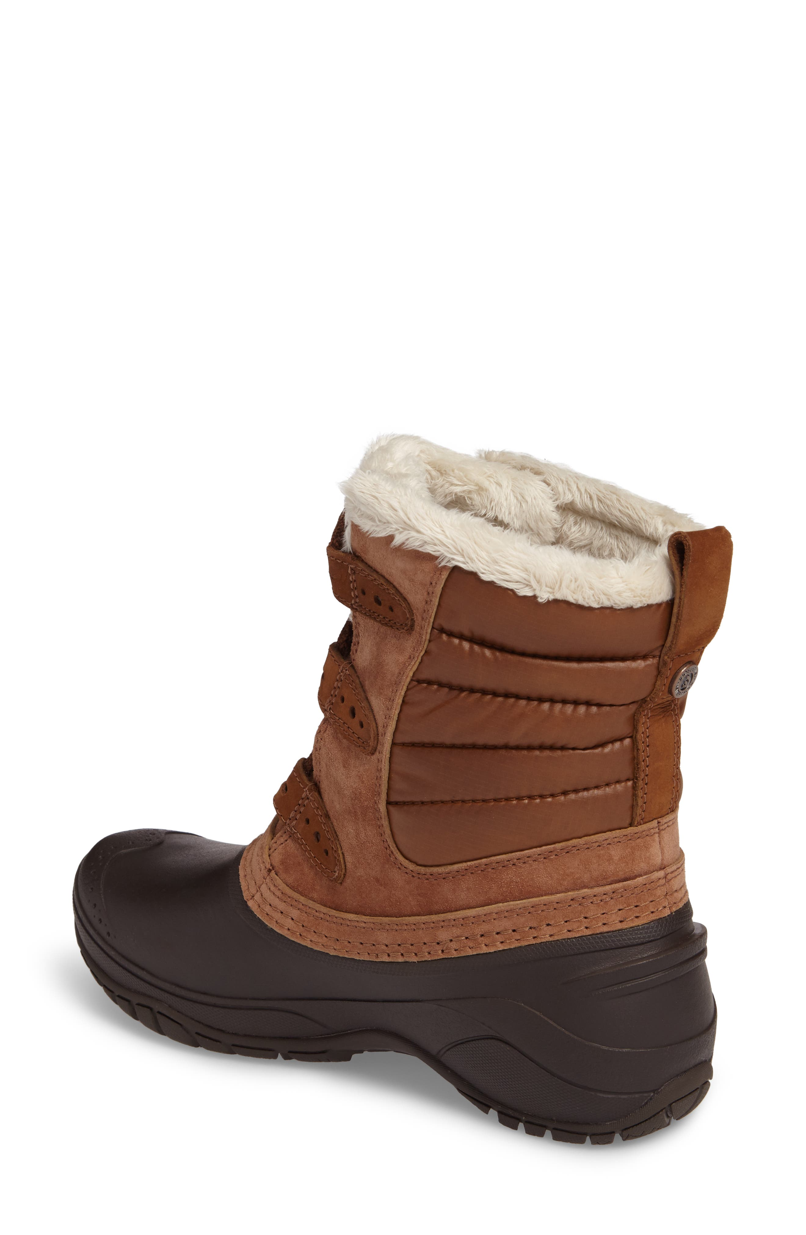 Shellista II Waterproof Boot,                             Alternate thumbnail 2, color,                             Dachshund Brown/ Vintage White