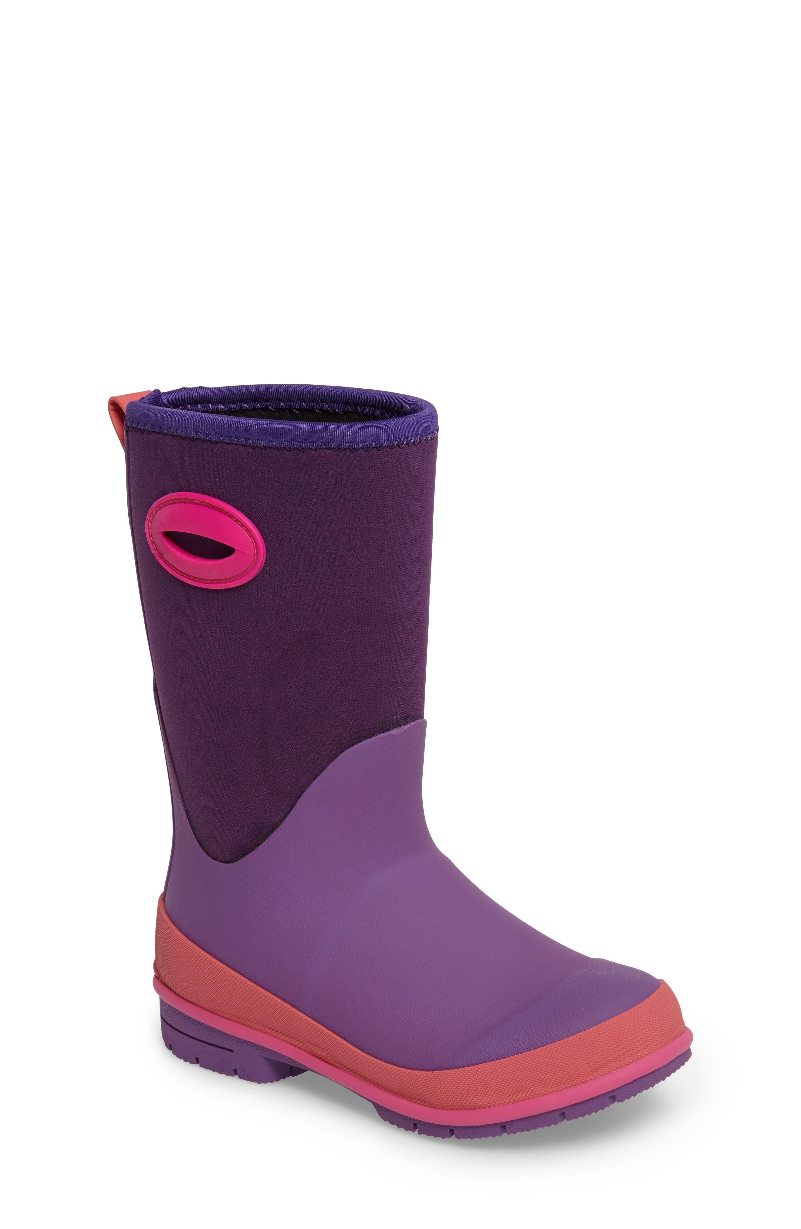 Neoprene Purple Snow Boot,                             Main thumbnail 1, color,                             Purple