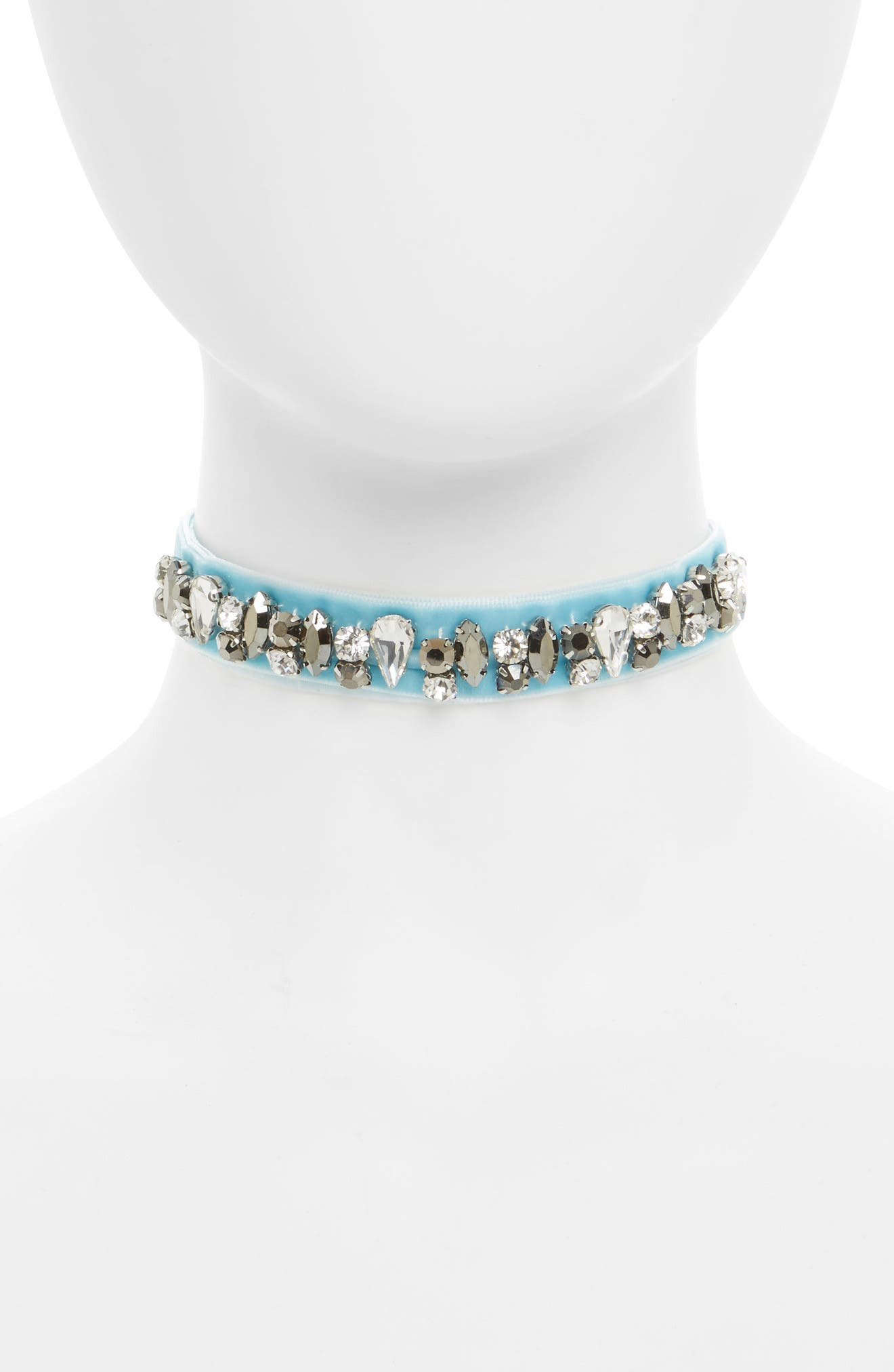 Cara Velvet Crystal Choker (Girls)