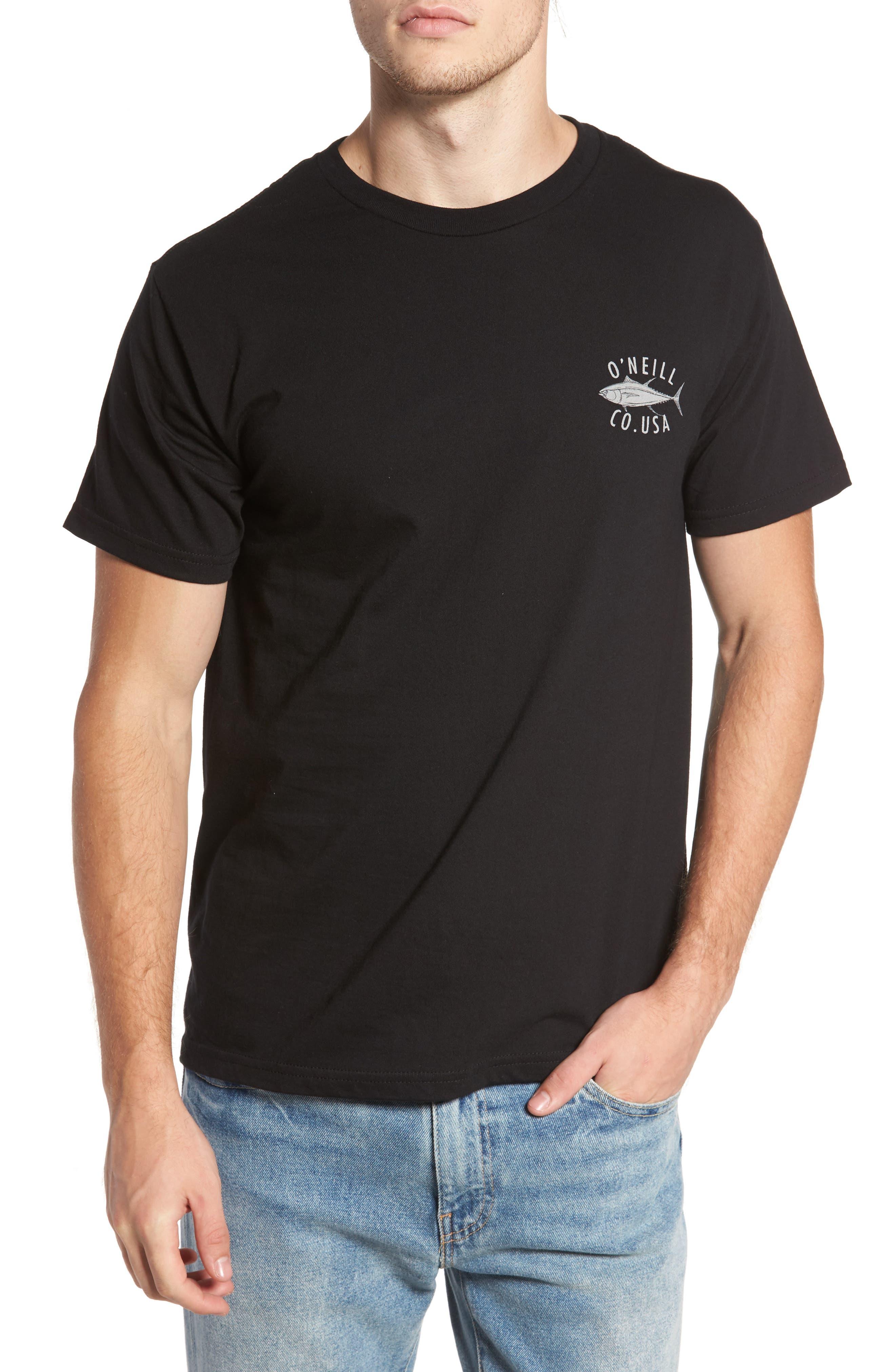 Tuna Roll Graphic T-Shirt,                         Main,                         color, Black