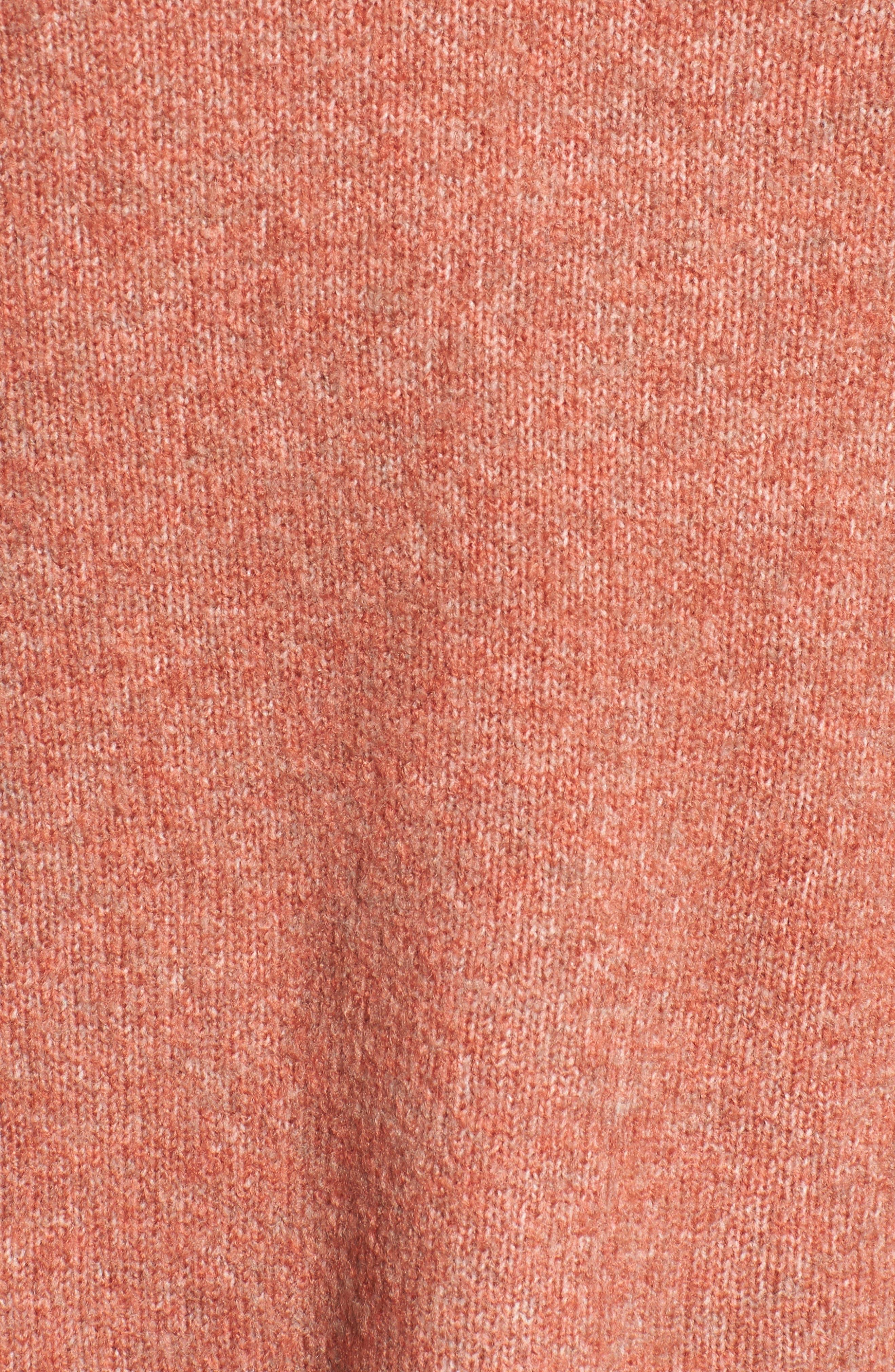 Bell Sleeve Sweater,                             Alternate thumbnail 4, color,                             Coral Rose Tea Rainbow Multi
