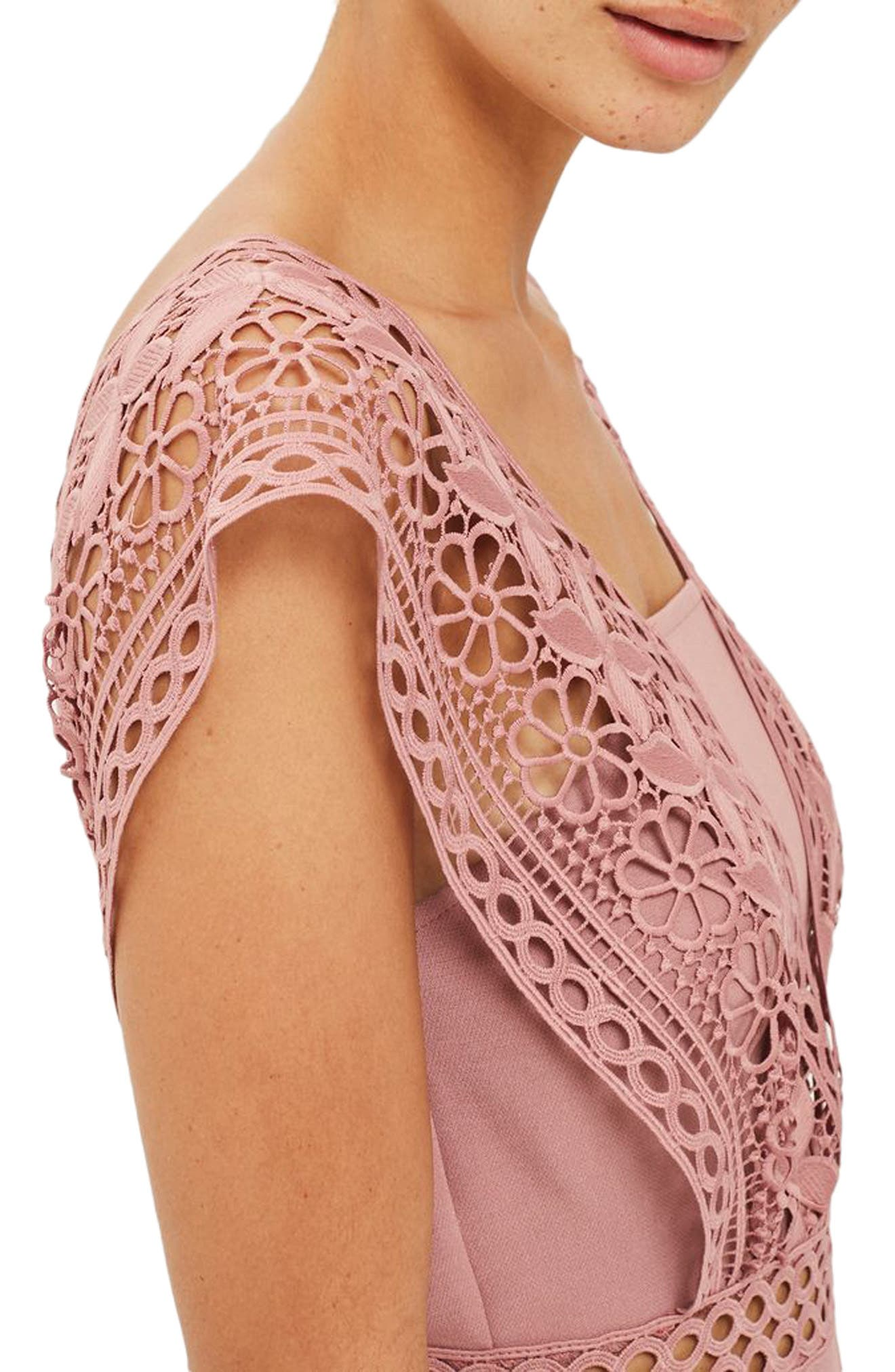 Alternate Image 3  - Topshop Crochet Strap Romper