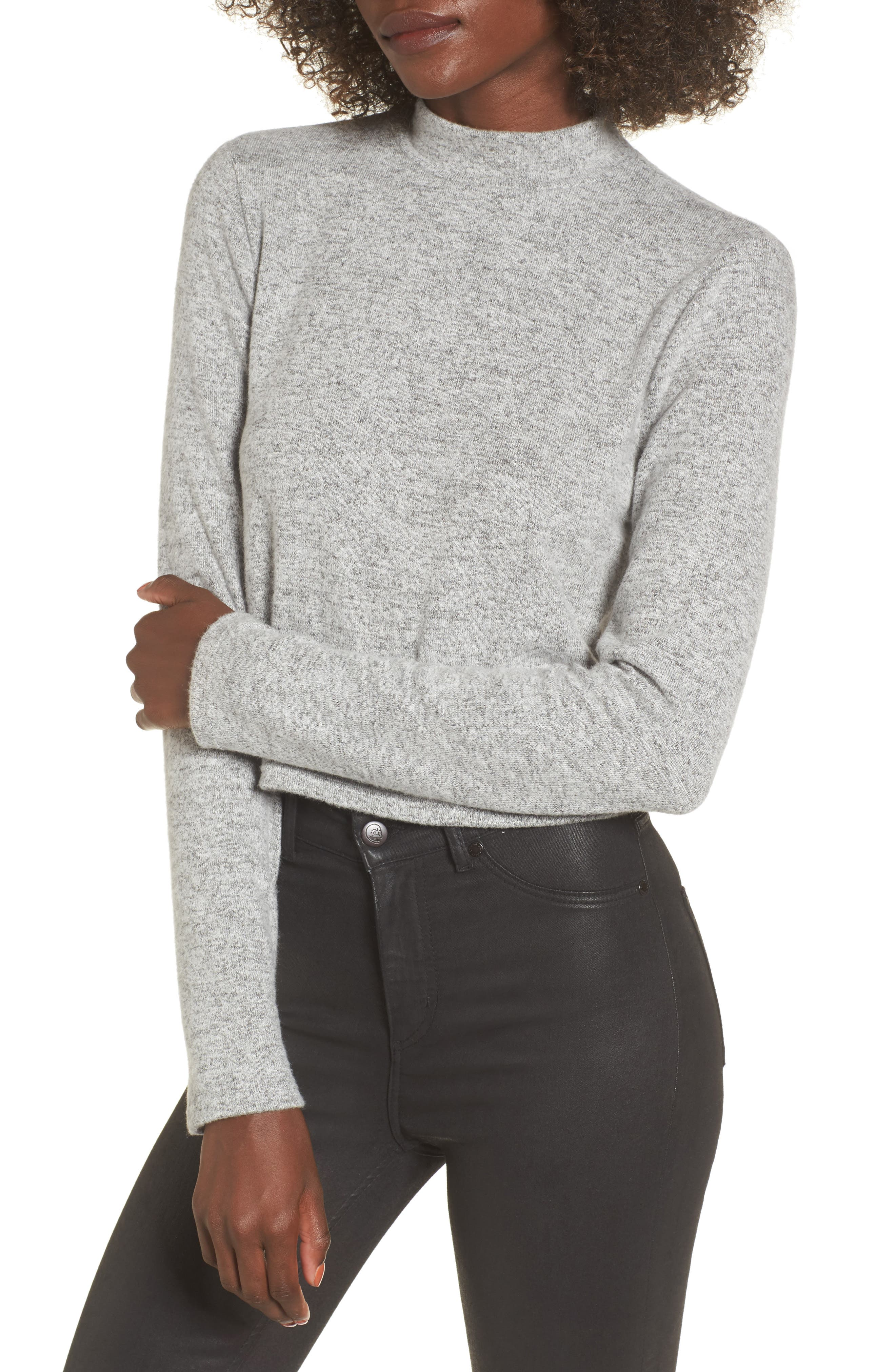 Main Image - PST by Project Social T Crop Mock Neck Top