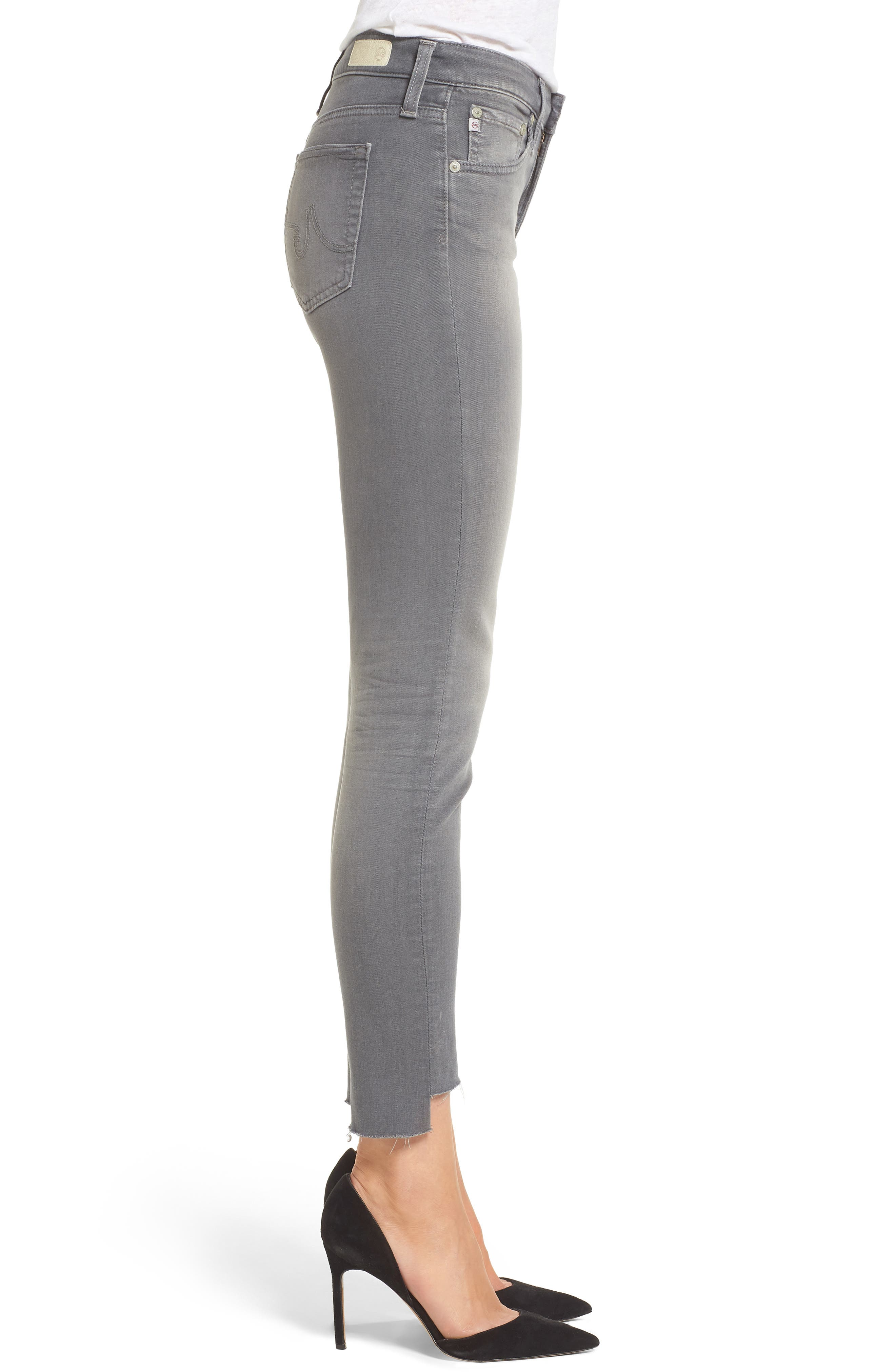 Farrah High Waist Ankle Skinny Jeans,                             Alternate thumbnail 3, color,                             10 Years Grey Shadow