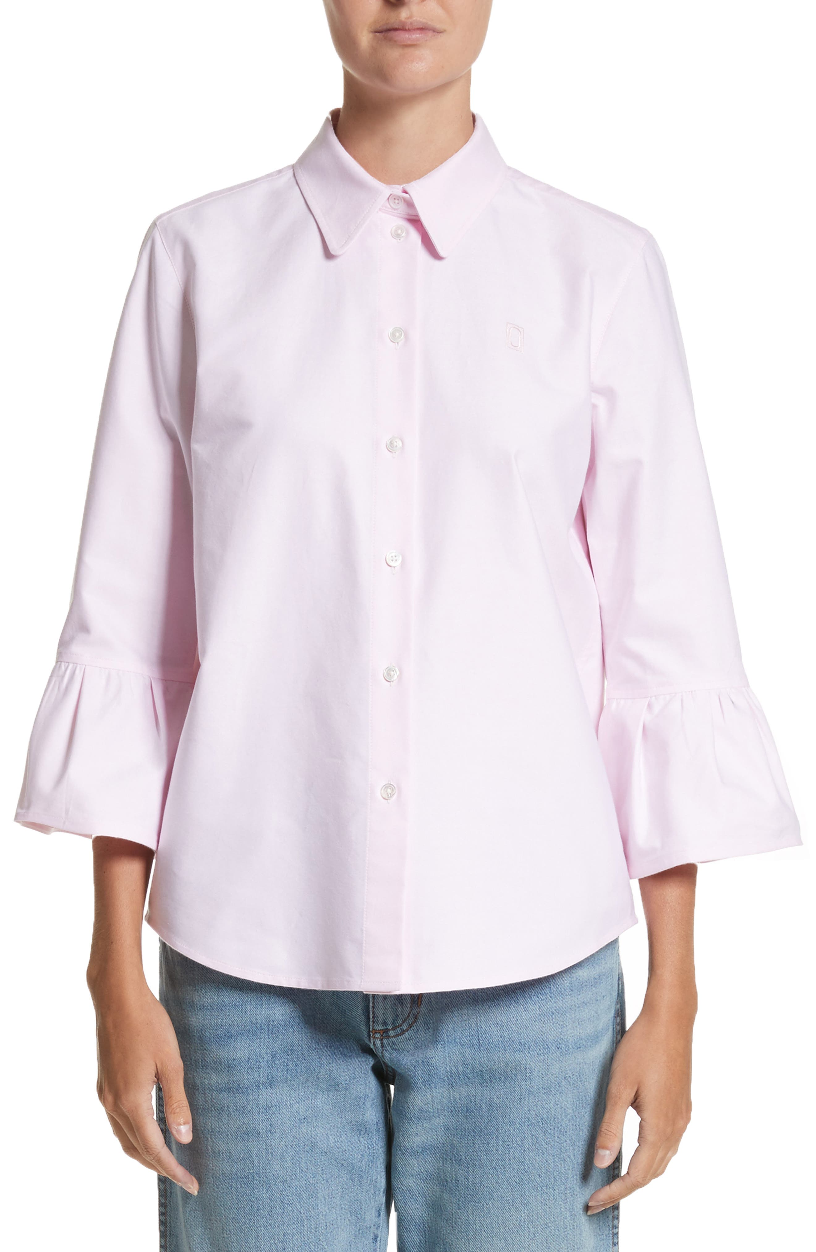 Alternate Image 1 Selected - MARC JACOBS Bell Sleeve Cotton Top