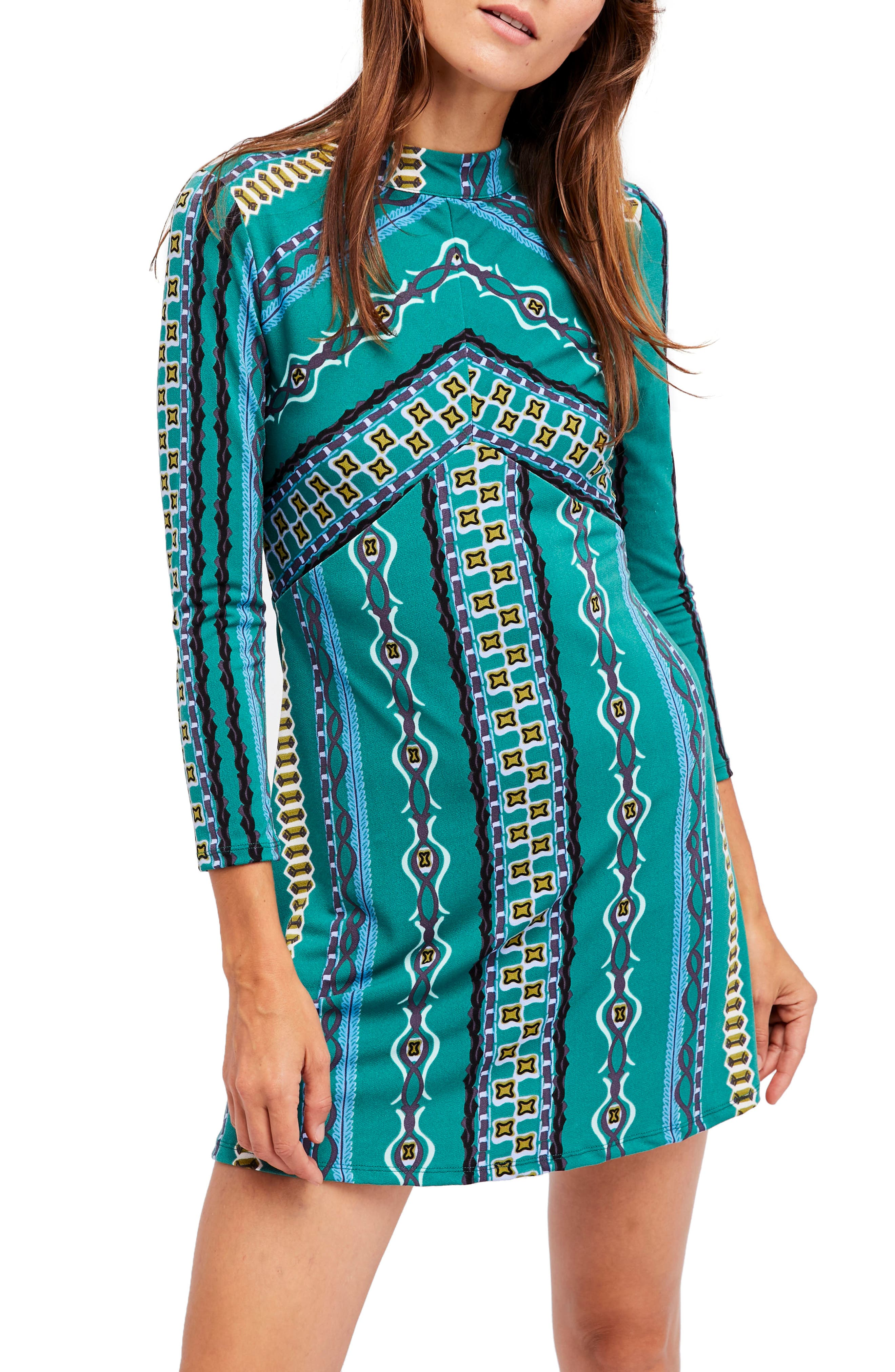 Alternate Image 1 Selected - Free People 'Stella' Graphic Print Minidress